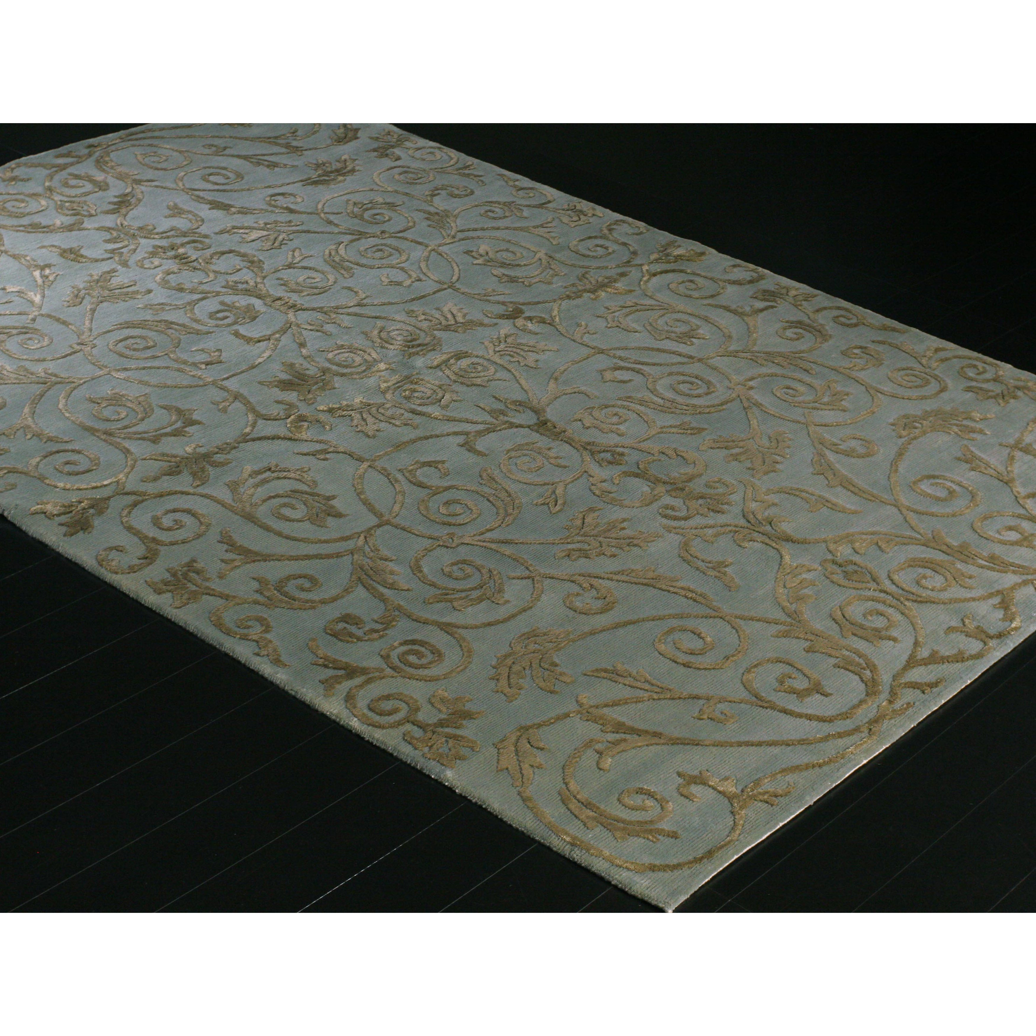 shop avery wool viscose knotted area rug 6 x 9 free shipping