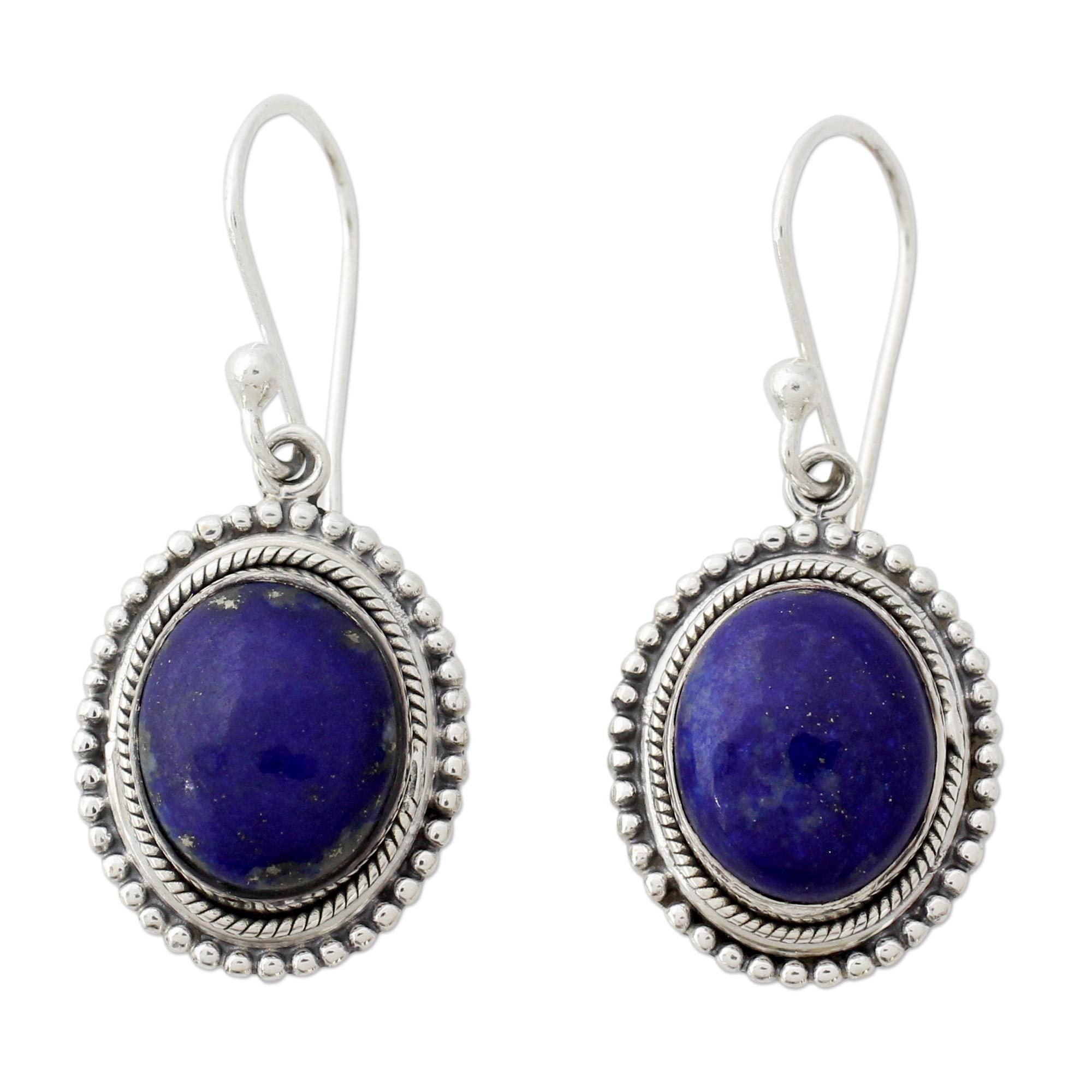 shop sterling silver earrings lapis uk handcrafted products clarity spo lazuli true india online indi