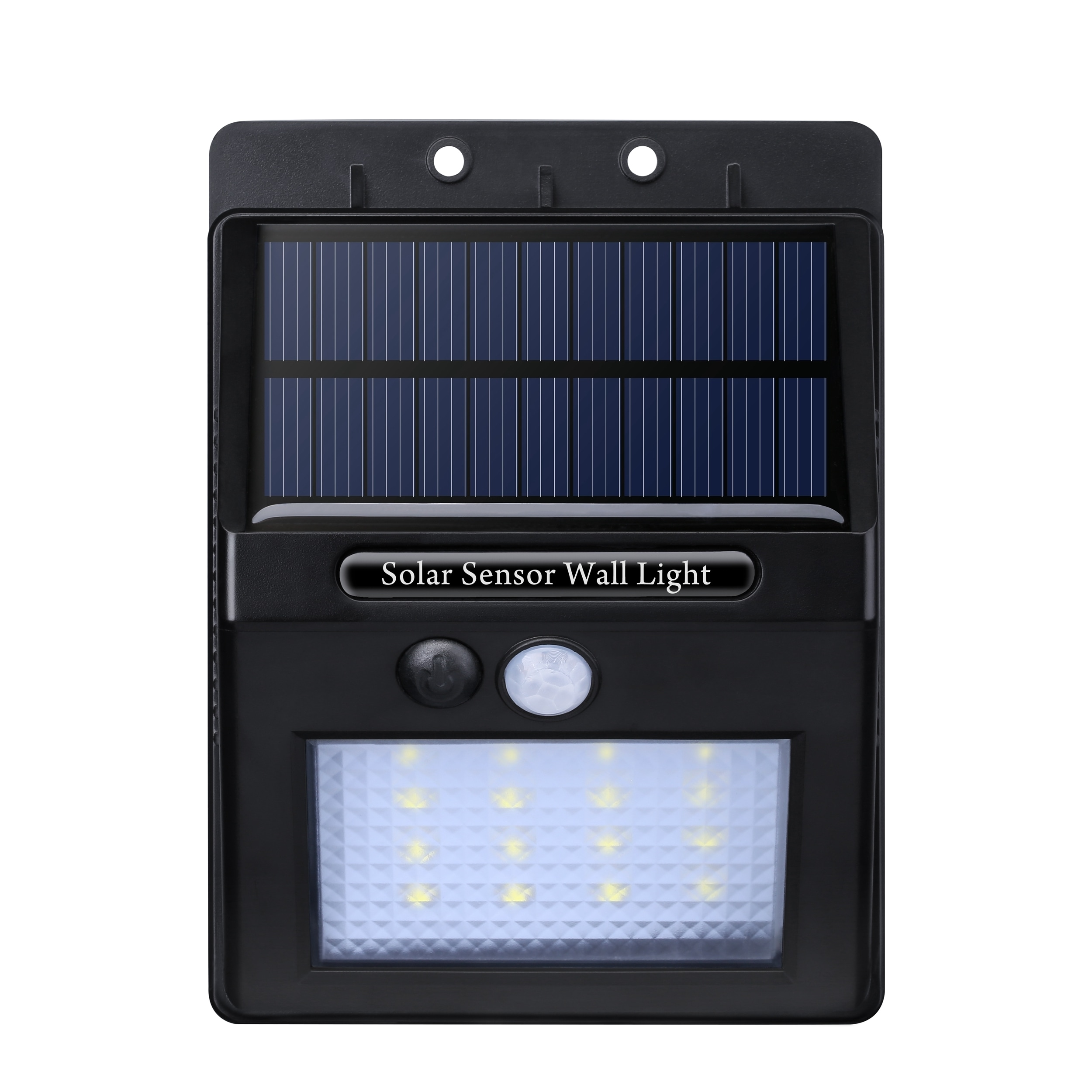 Solar Panel Ed Motion Sensor Outdoor Garden Security 320 Lumen 16 Led Light With Diamond Lampshade On Free Shipping Orders Over 45