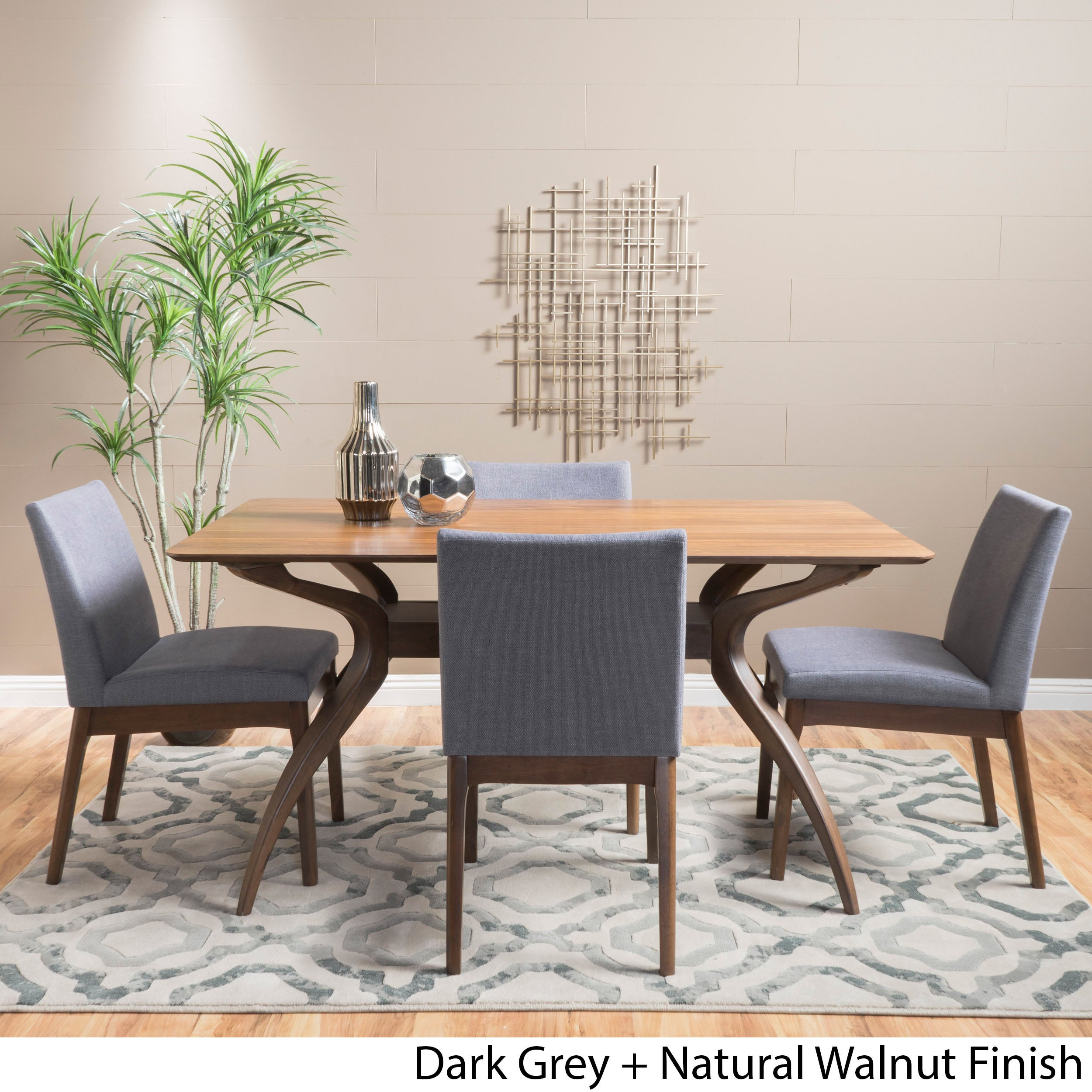 Shop kwame mid century 5 piece rectangle dining set by christopher shop kwame mid century 5 piece rectangle dining set by christopher knight home on sale free shipping today overstock 12898486 watchthetrailerfo