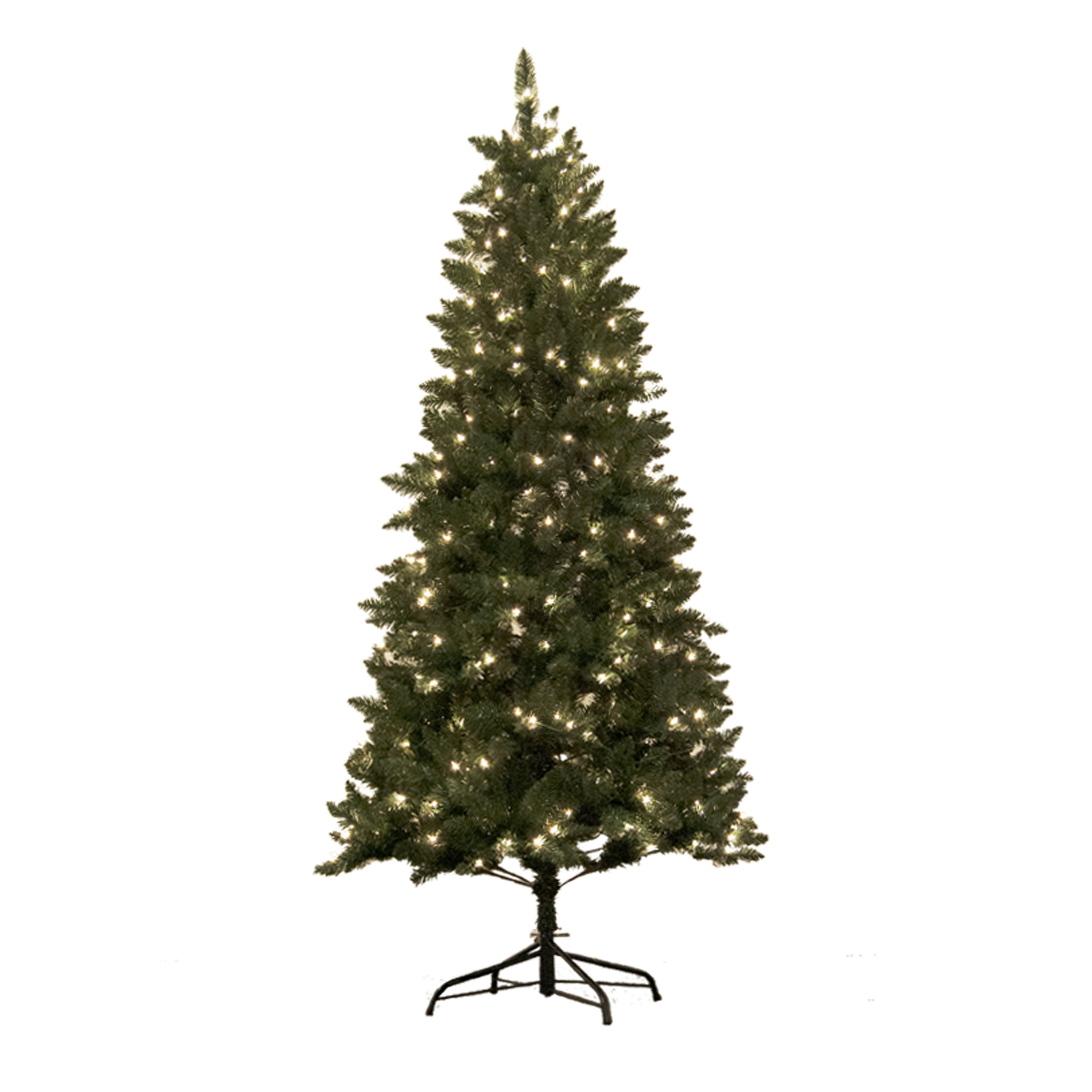 Shop Astella 7 Foot Pre Lit Douglas Fir Hinged Artificial Christmas Tree With Stand And 300 Clear Incandescent Lights Free Shipping Today Overstock Com