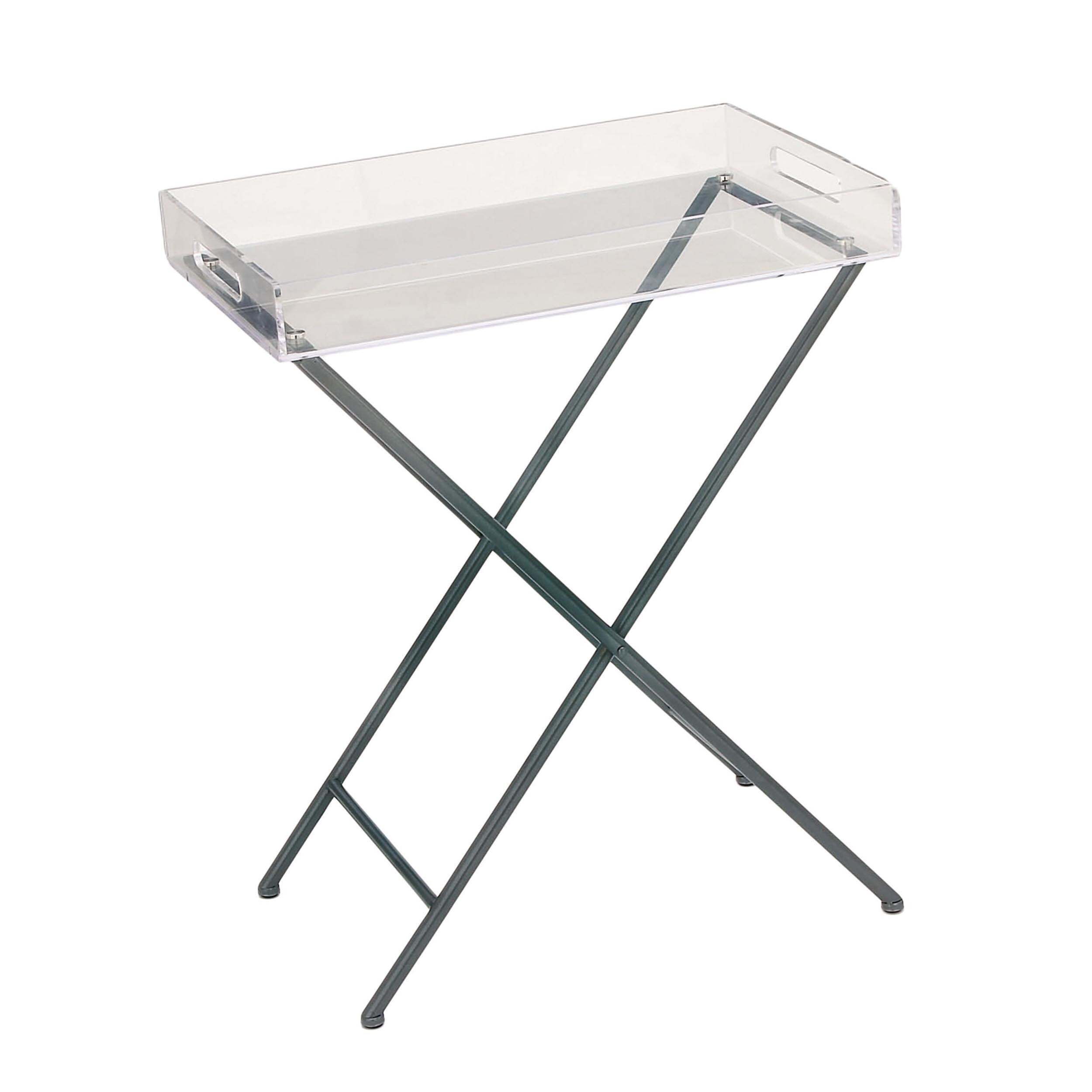 urban accents furniture. Urban Designs Clear Acrylic Tray Top Accent Table - Free Shipping Today Overstock 19656288 Accents Furniture