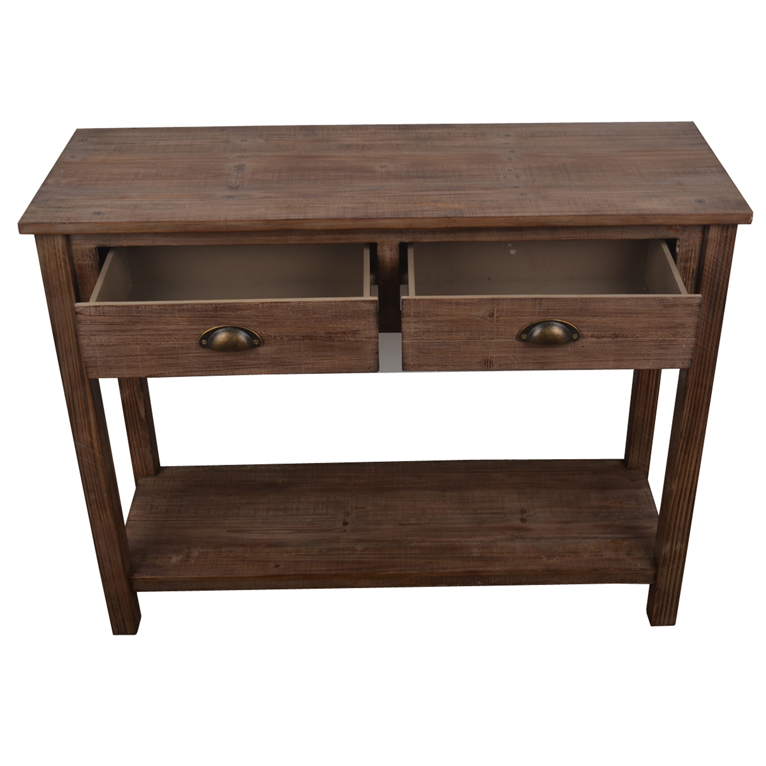 Decor Therapy Vintage Distressed Brown Wood Console Table On Free Shipping Today 12899295