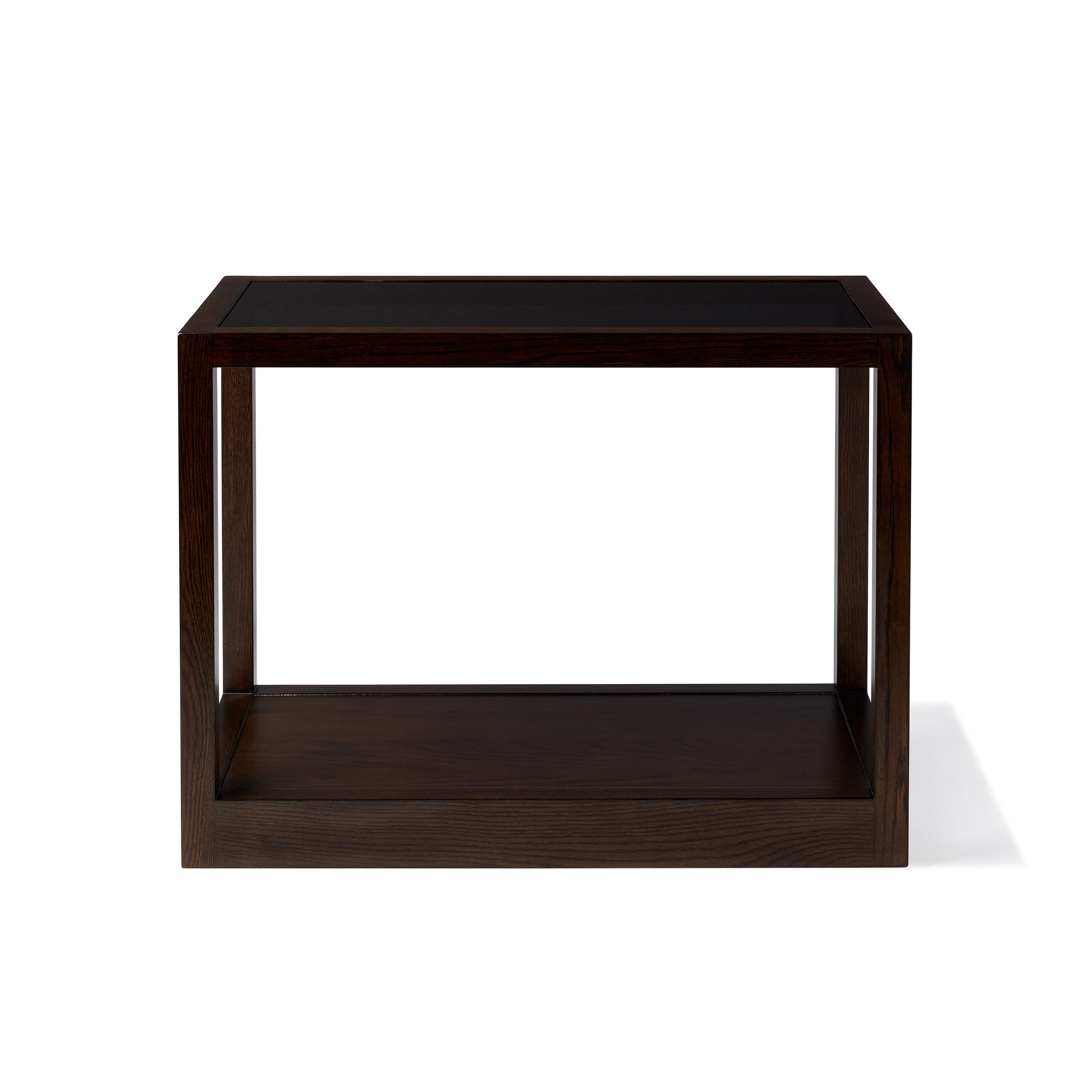 Side Table Klein.Calvin Klein Gramercy Sepia Wood Glass Top Side Table