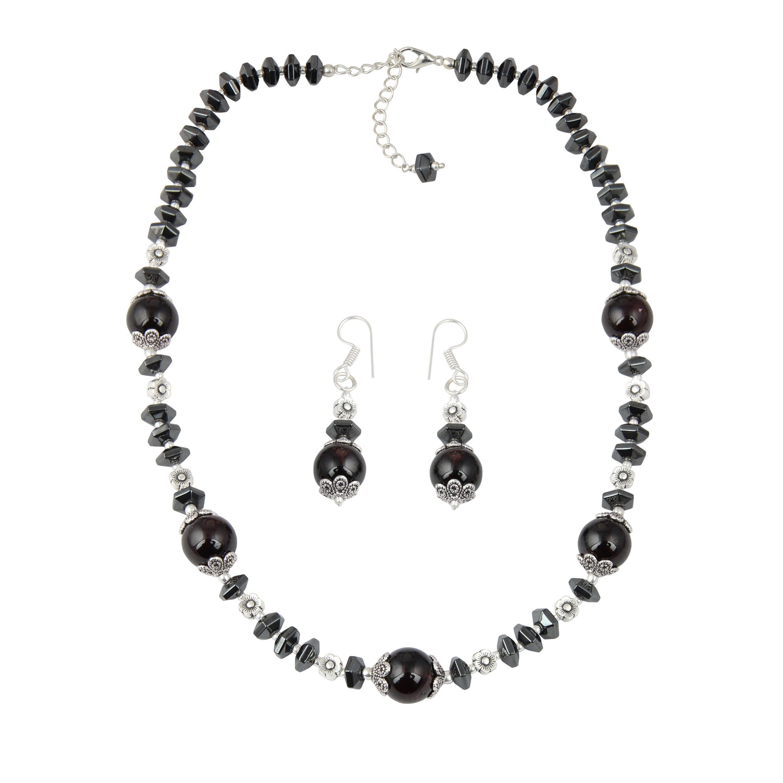 perle steel contemporary pearl jewelry with haematit necklace hematite d lange kette long jewellery