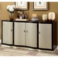 Furniture of America Daphne Contemporary Espresso/ Champagne 4-door Dining Server