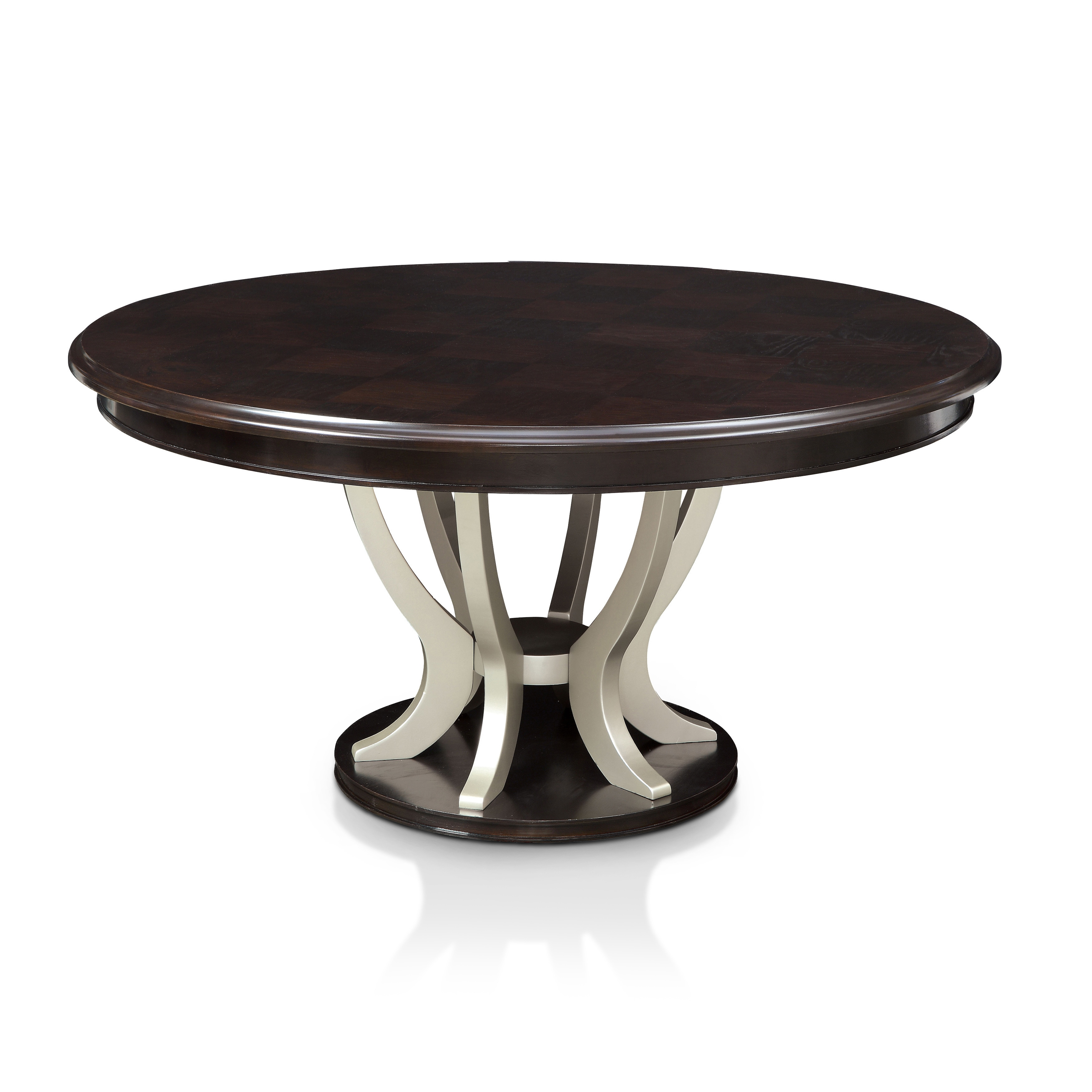 Furniture Of America Daphne Round Pedestal Espresso/Champagne Dining Table    Free Shipping Today   Overstock   19670141