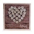 White/Grey Wood/Metal 'Love' Plaque