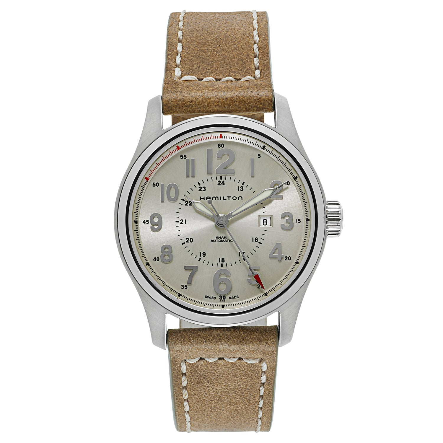 Shop Hamilton Women s Khaki Field Officer Auto Watch - Free Shipping Today  - Overstock - 12916264 a1933d0888