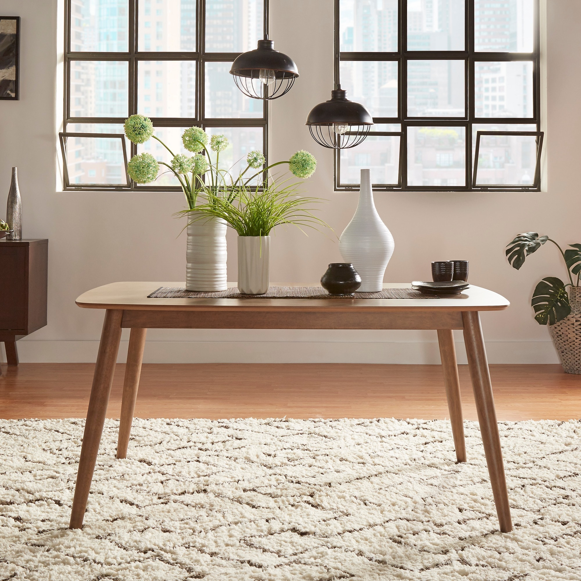 Norwegian Mid Century Danish Modern Tapered Dining Table iNSPIRE Q Modern -  Free Shipping Today - Overstock.com - 19675538