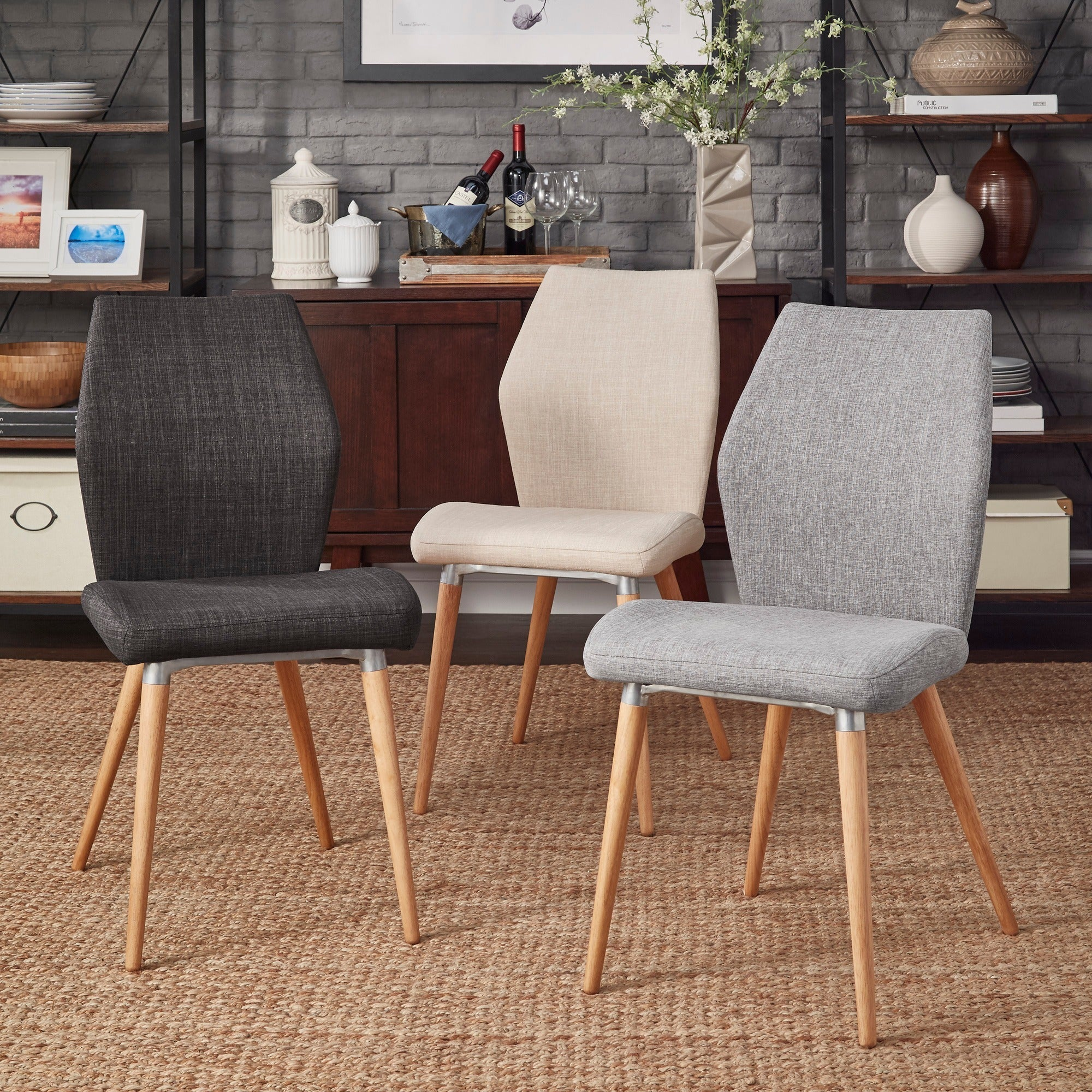 iNSPIRE Q Abelone Contour Upholstered Dining Chairs (Set of 2) - Free  Shipping Today - Overstock.com - 19675541