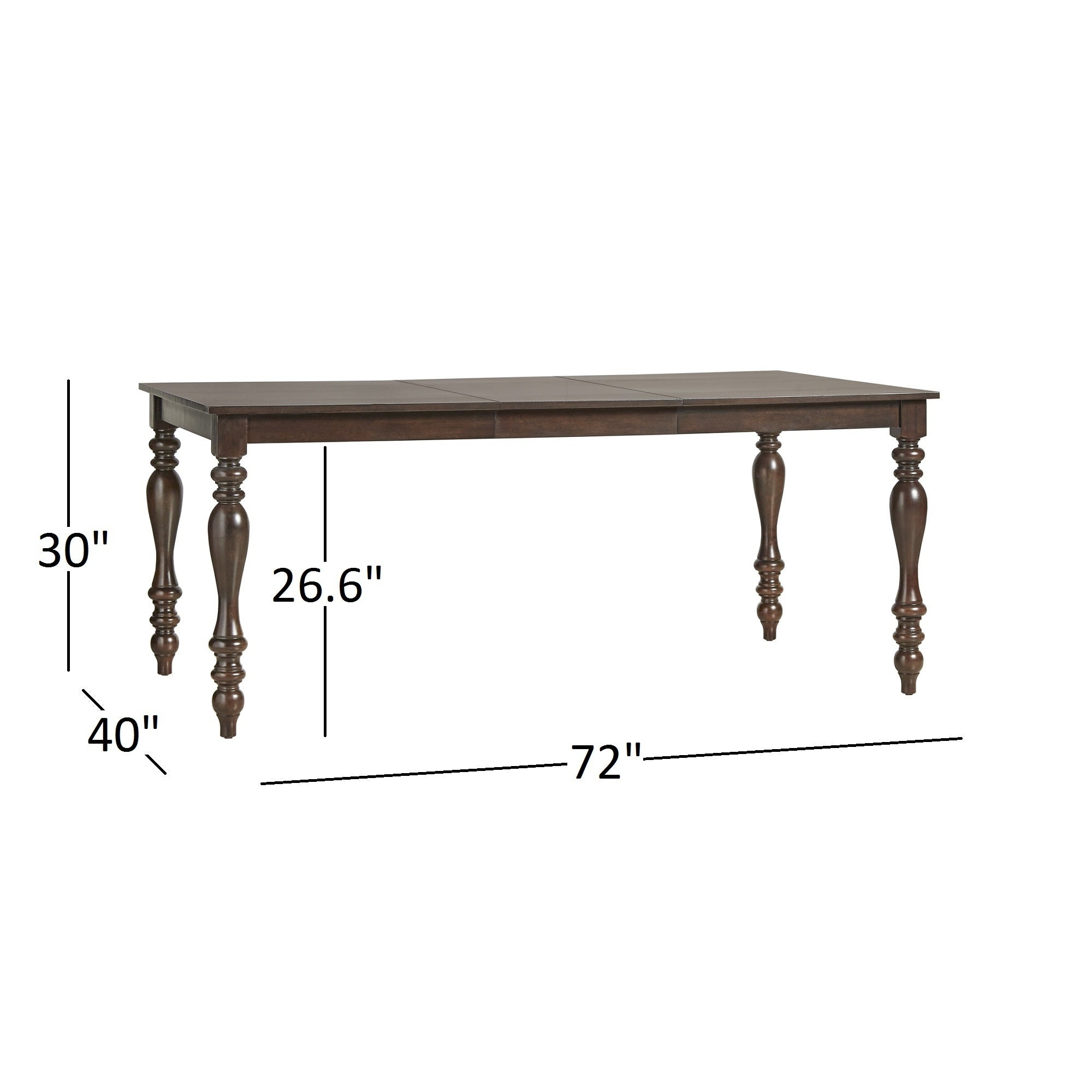 Shop Pranzo Rectangular 72 Inch Extending Dining Table And Set With  Baluster Legs By INSPIRE Q Classic   Free Shipping Today   Overstock.com    12921553