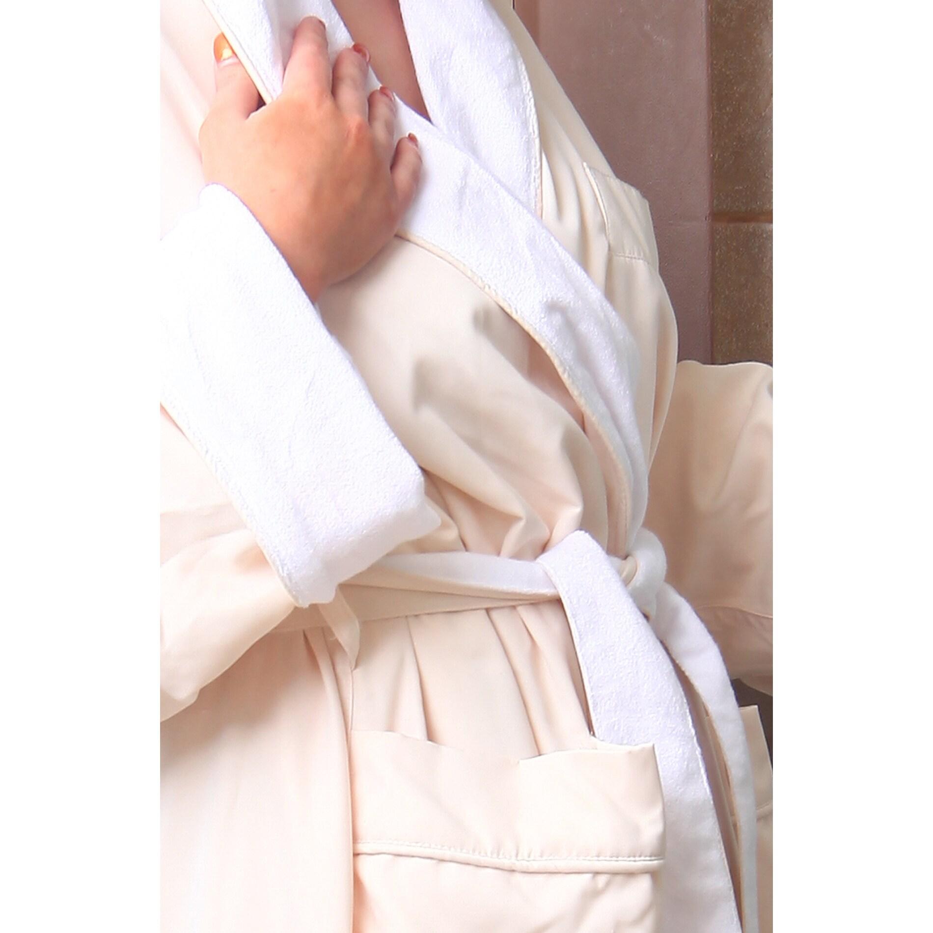 671ab62e4d Shop Home Spa Microfiber Velour-Lined Bath Robe