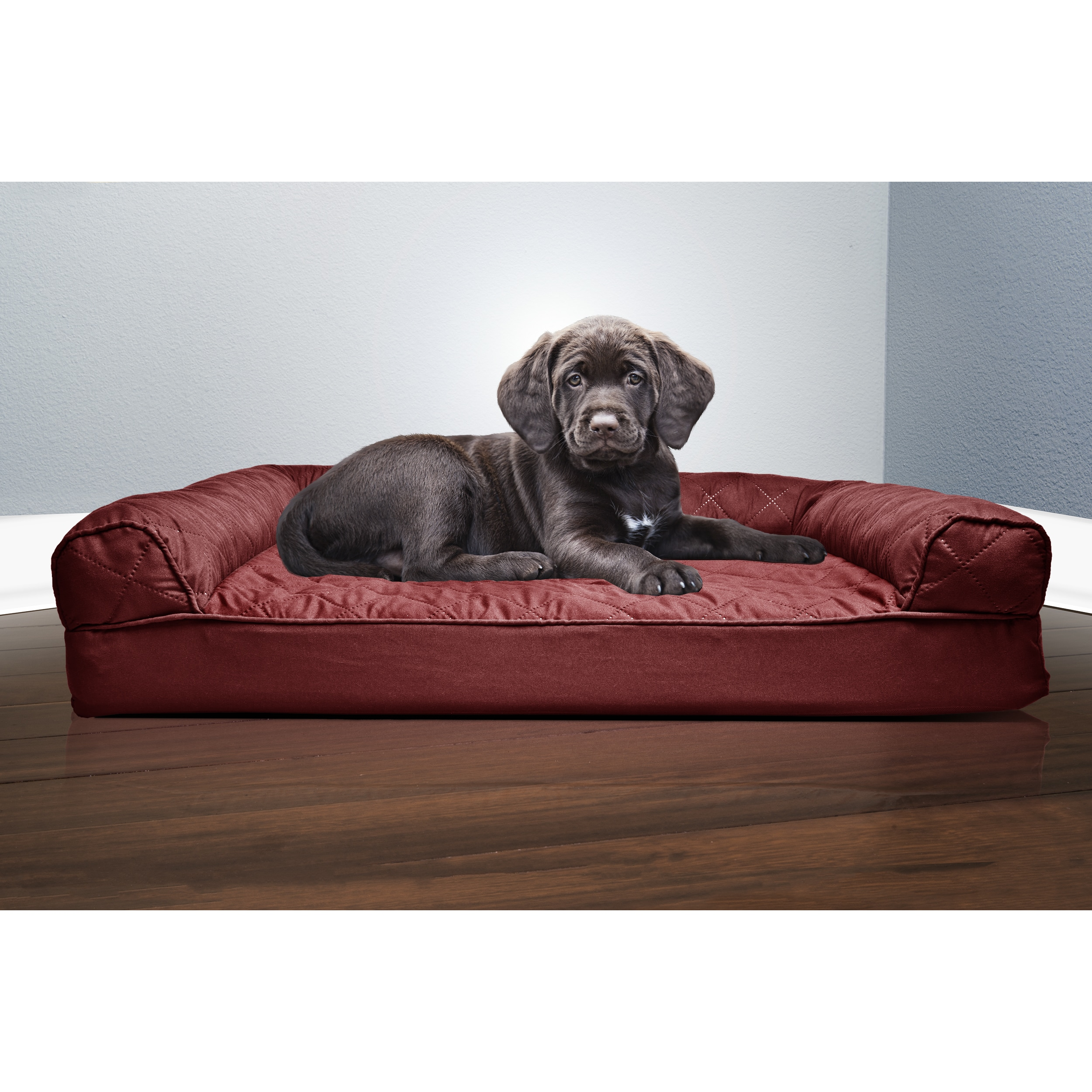 FurHaven Quilted Orthopedic Sofa-Style Pet Bed