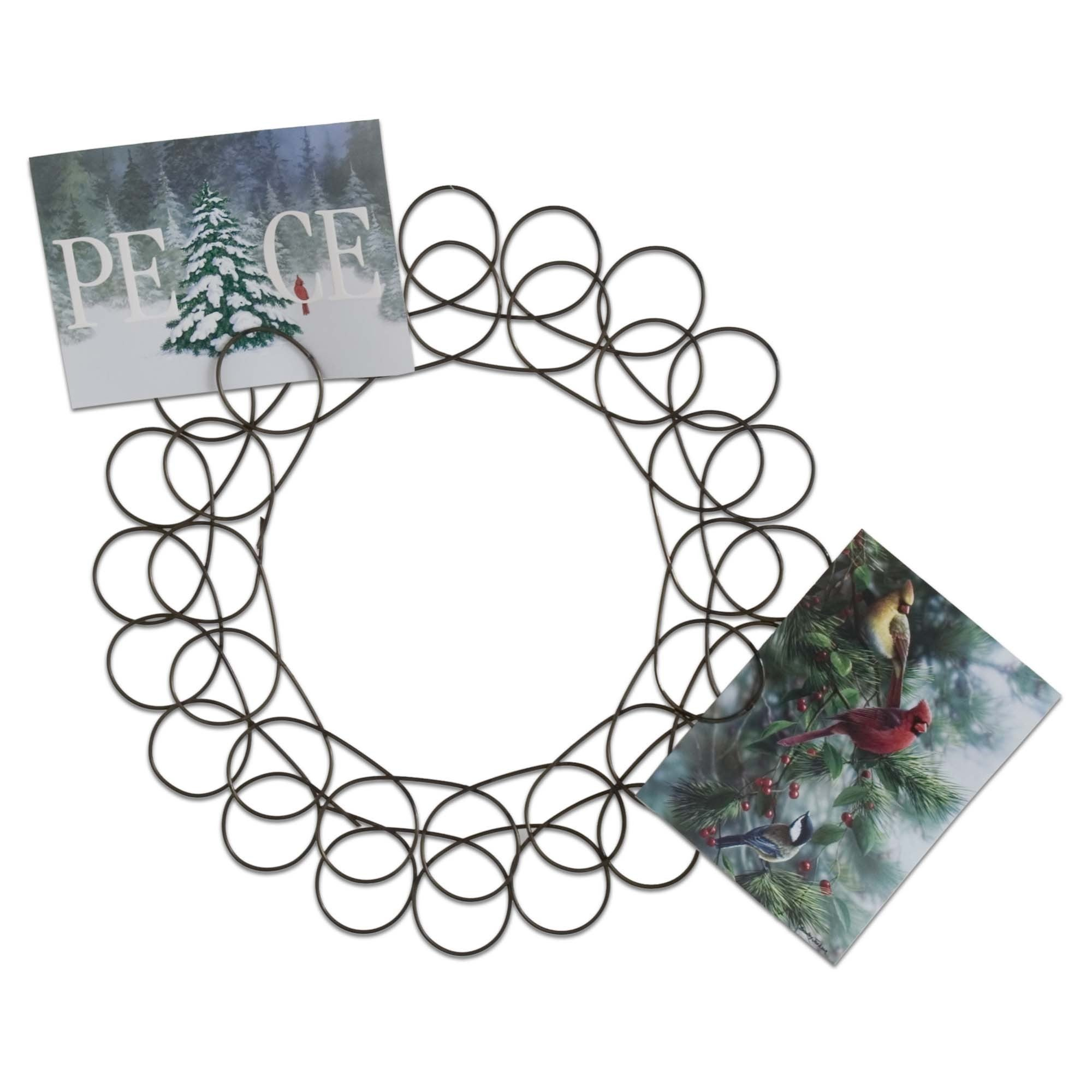Shop TAG Christmas Spiral Wreath Greeting Card Holder - Free ...