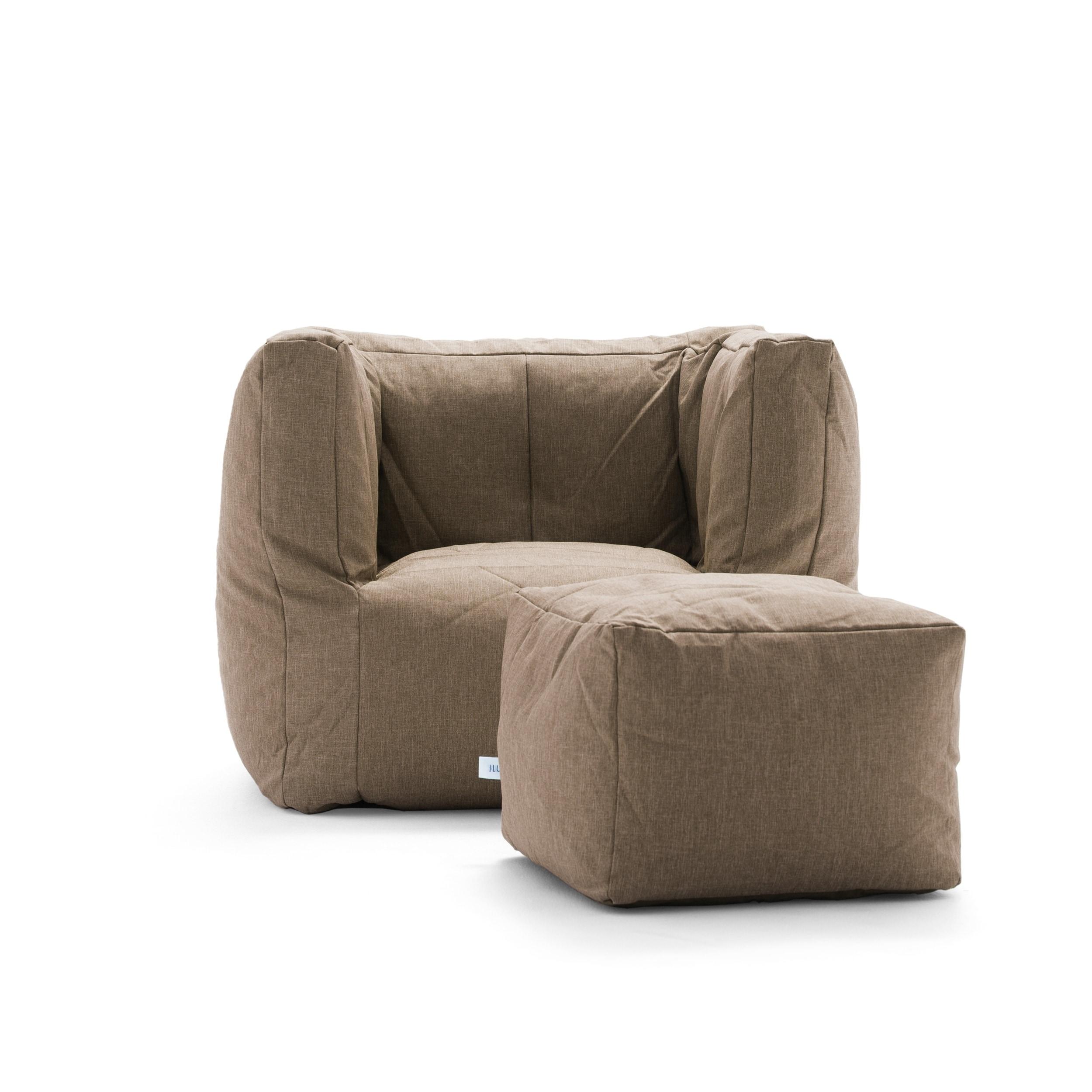 Big Joe Lux Cube & Ottoman Bean Bag Chair, Multiple