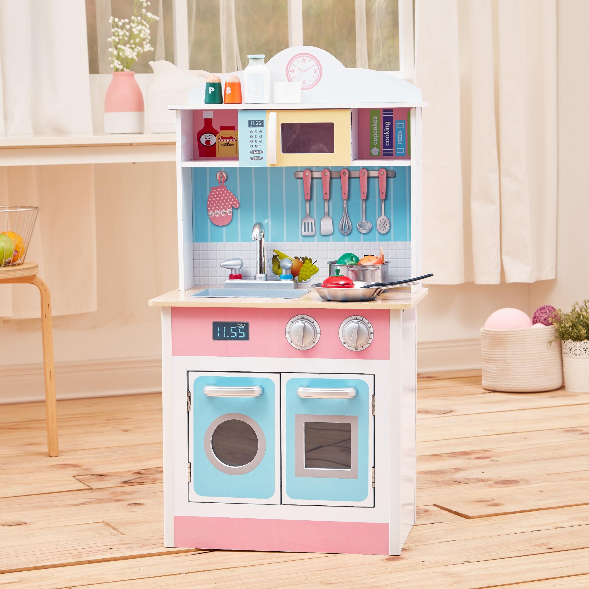 Shop Teamson Kids Pastel Little Chef Play Kitchen  Free