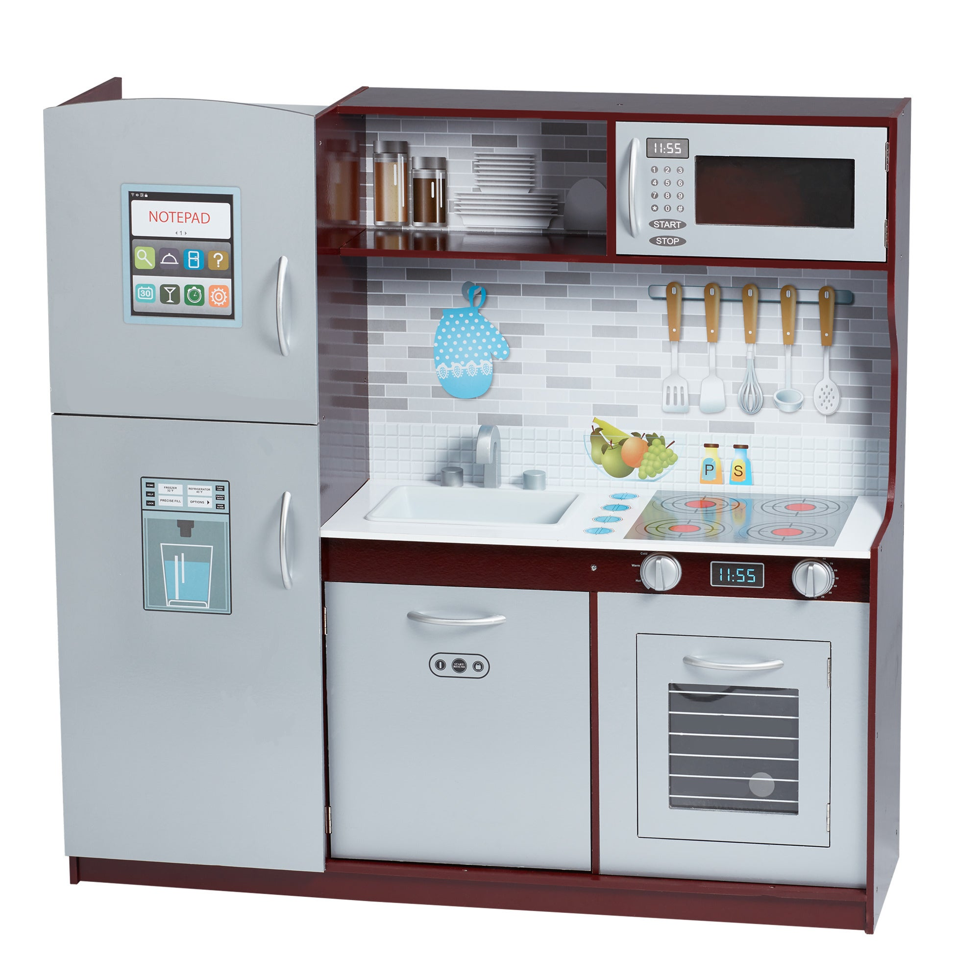 Teamson Kids Uptown Espresso Play Kitchen - Free Shipping Today ...