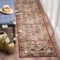 Safavieh Bijar Traditional Oriental Brown/ Rust Distressed Rug (2' 3 x 8')