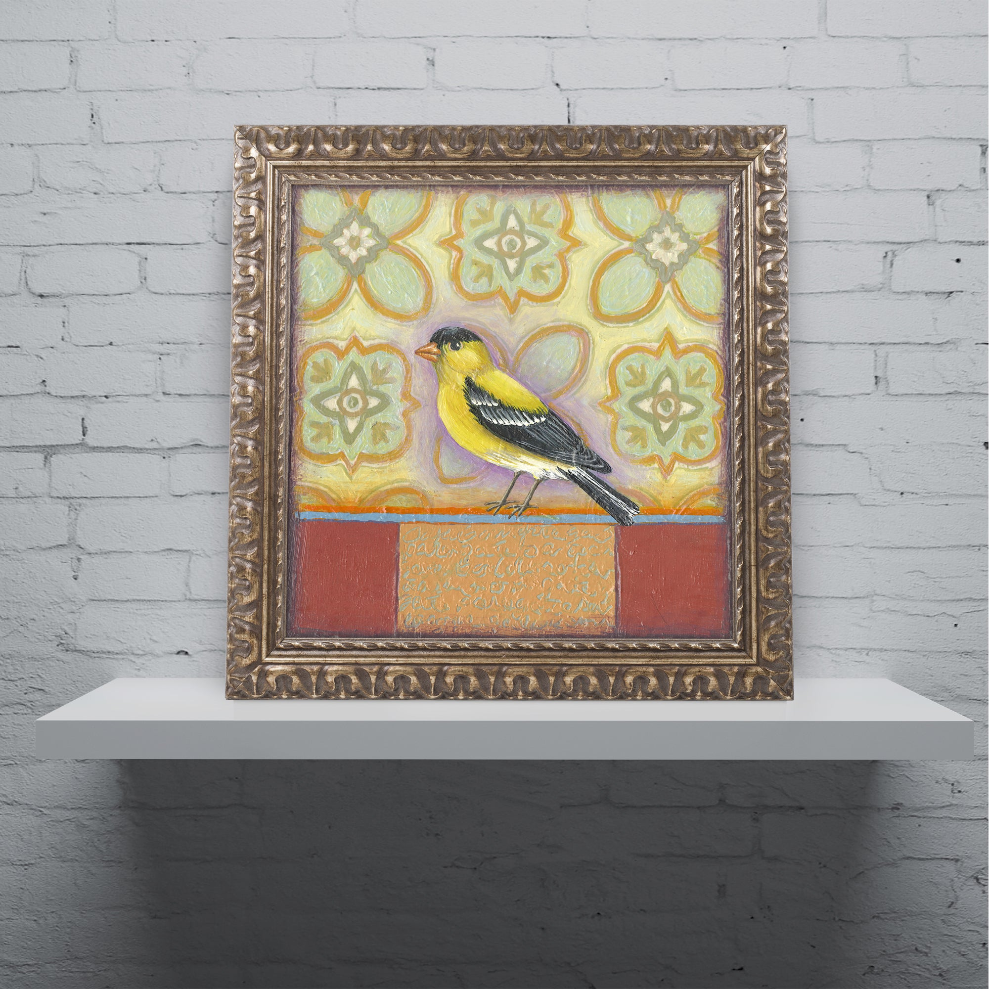 Rachel Paxton \'Small Bird 248\' Ornate Framed Art - Free Shipping ...
