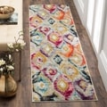 Safavieh Monaco Bohemian Vibrant Watercolor Rainbow Distressed Rug (2' 2 x 8')