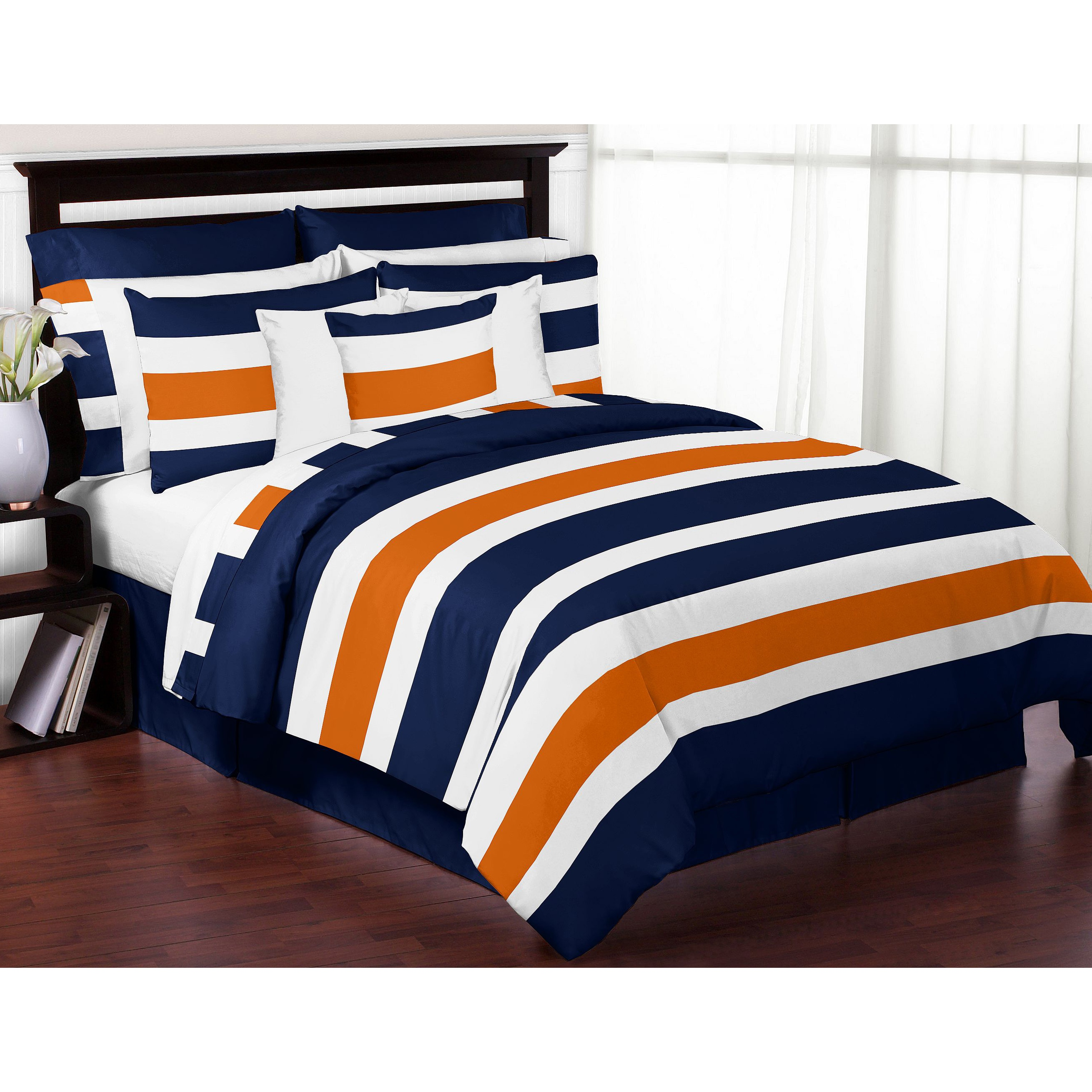 queen sets angeloferrer down comforter com orange blue