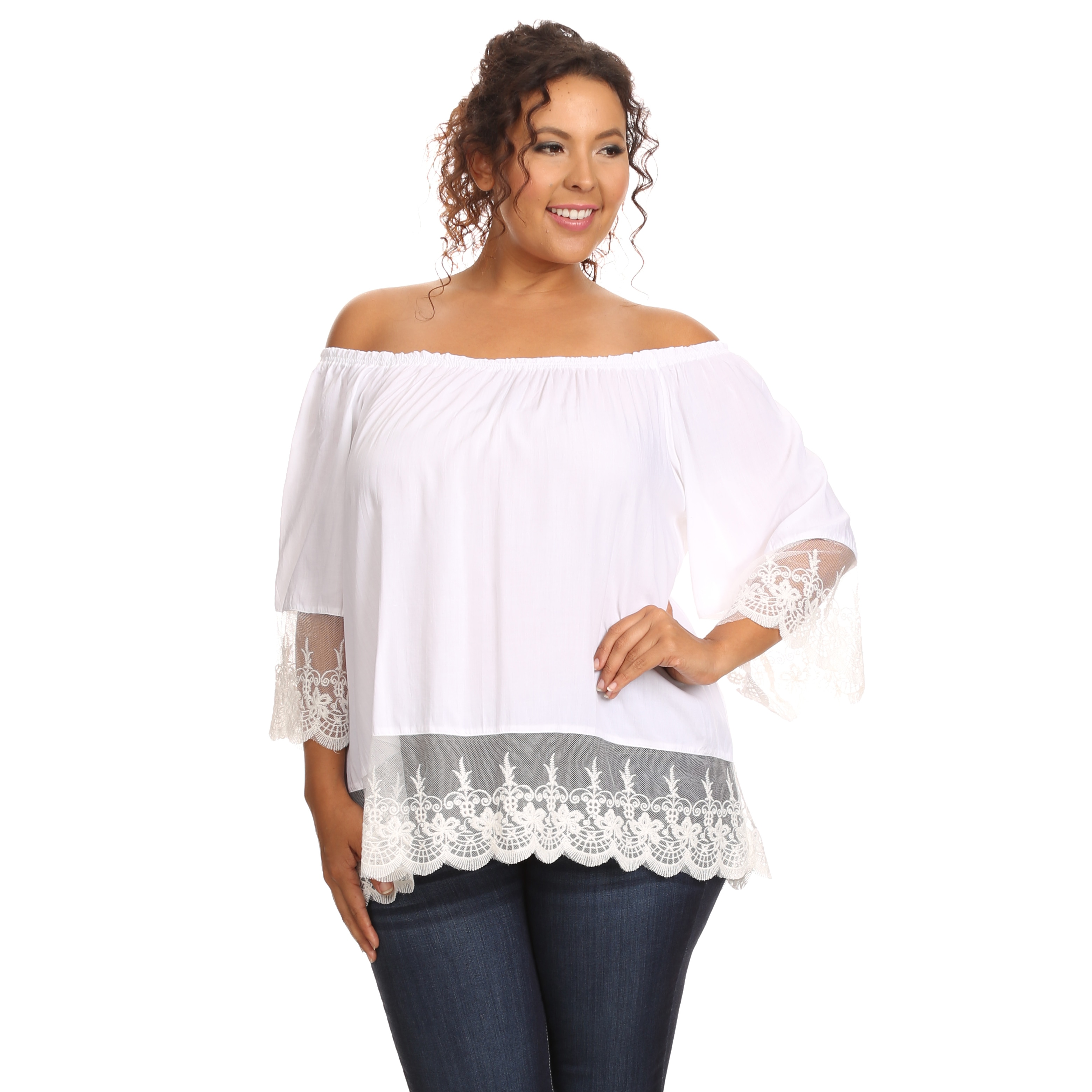 2c55422bd2545 Shop Hadari Women s Plus Size Casual Off Shoulder Blouse - Free Shipping On  Orders Over  45 - Overstock - 12948916