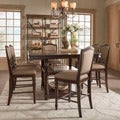 LaSalle Espresso Pedestal Counter Height Storage Dining Set by iNSPIRE Q Classic