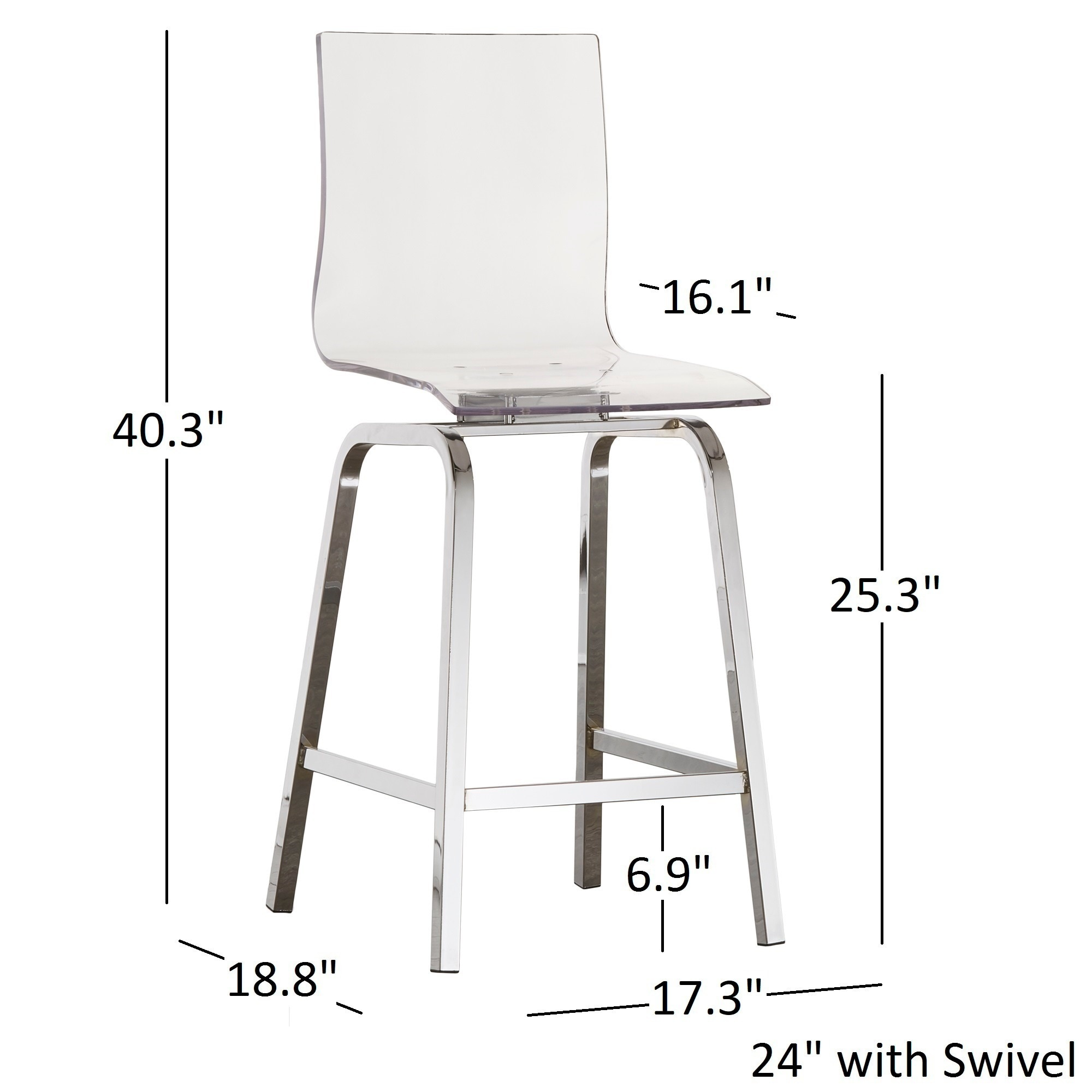 INSPIRE Q Miles Clear Acrylic Swivel Bar Stools (Set Of 2)   Free Shipping  Today   Overstock.com   19700514