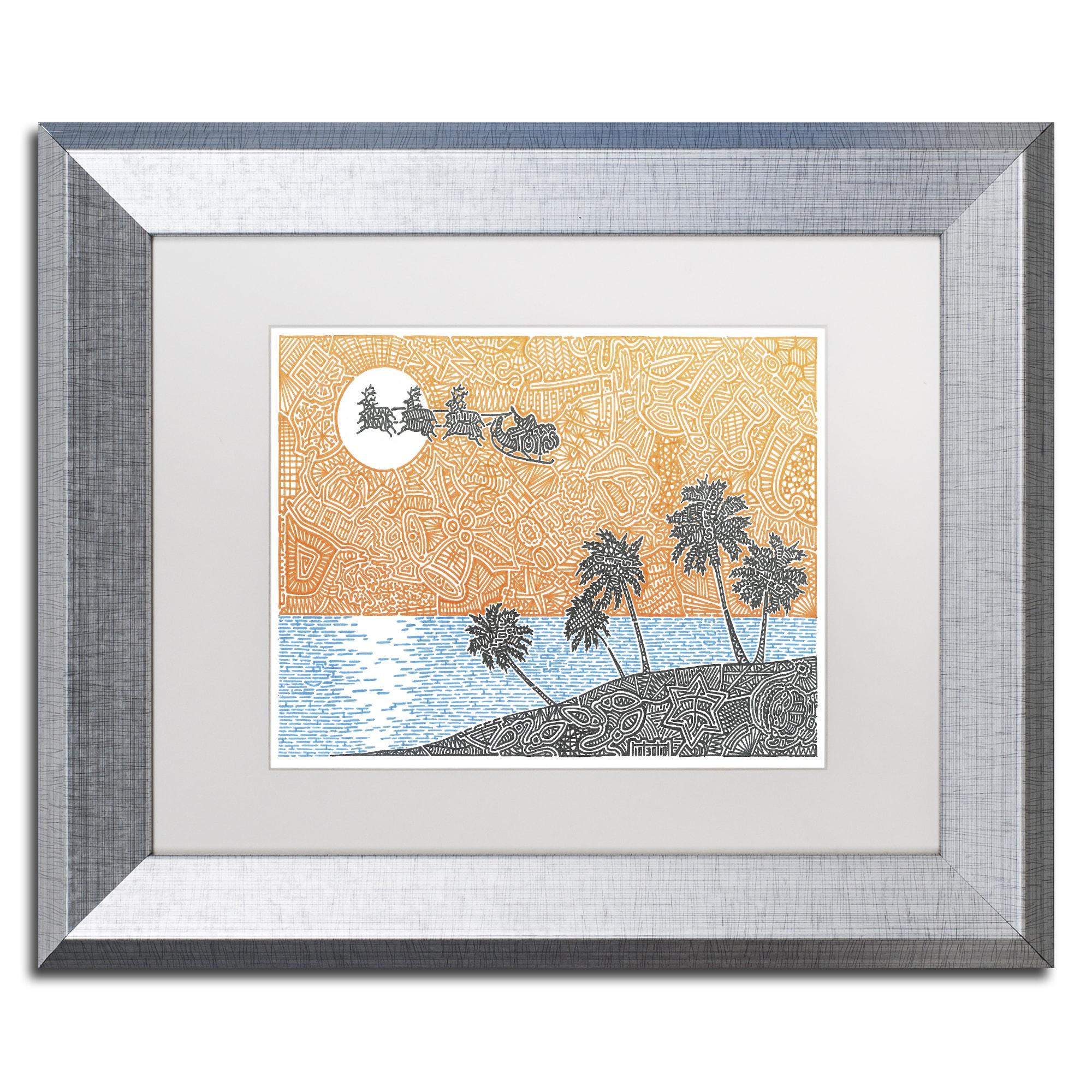 Viz Art Ink \'Christmas Palms\' Matted Framed Art - Free Shipping ...
