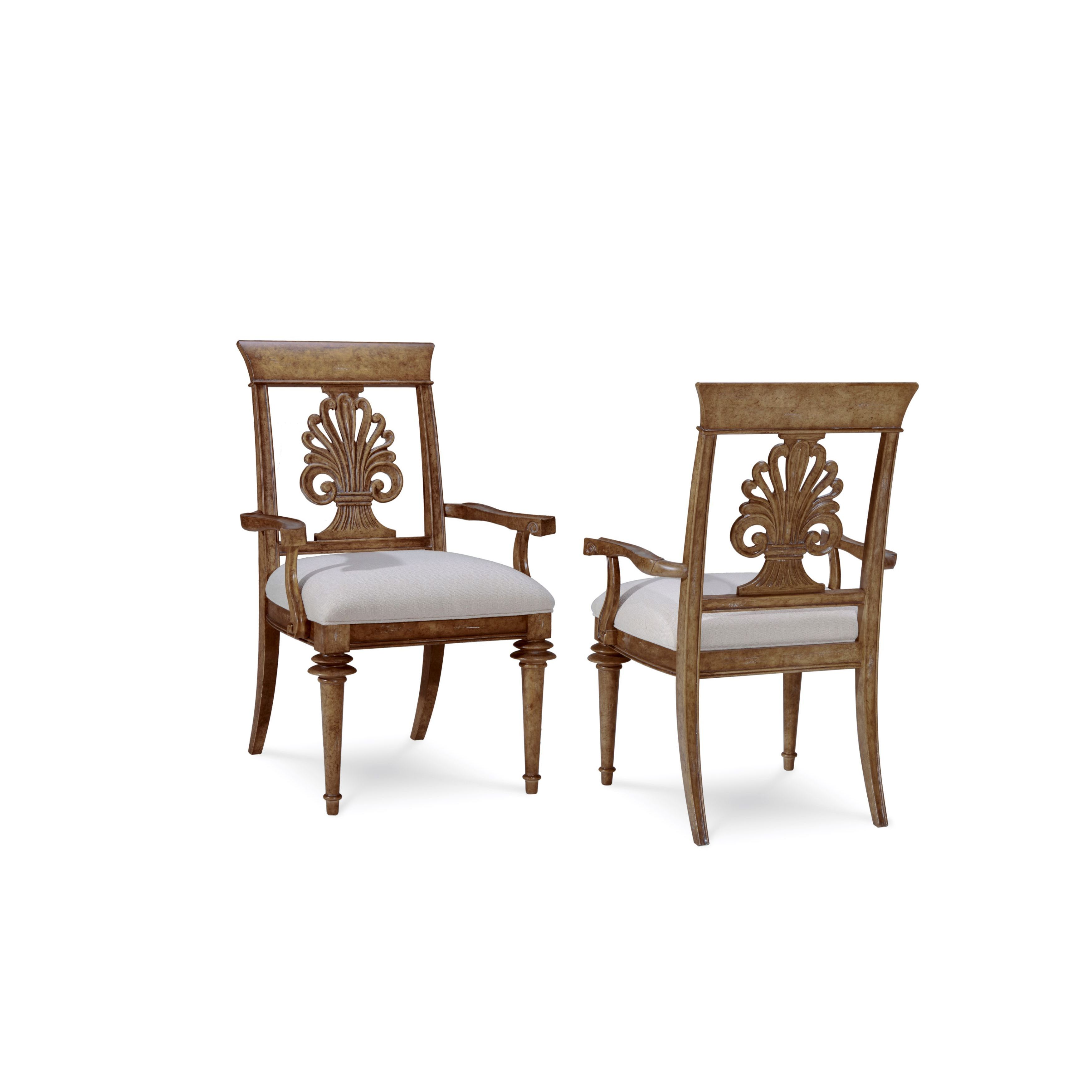 Shop a r t furniture pavilion radiatta wood and crypton fabric upholstered arm chairs set of 2 free shipping today overstock com 12957344