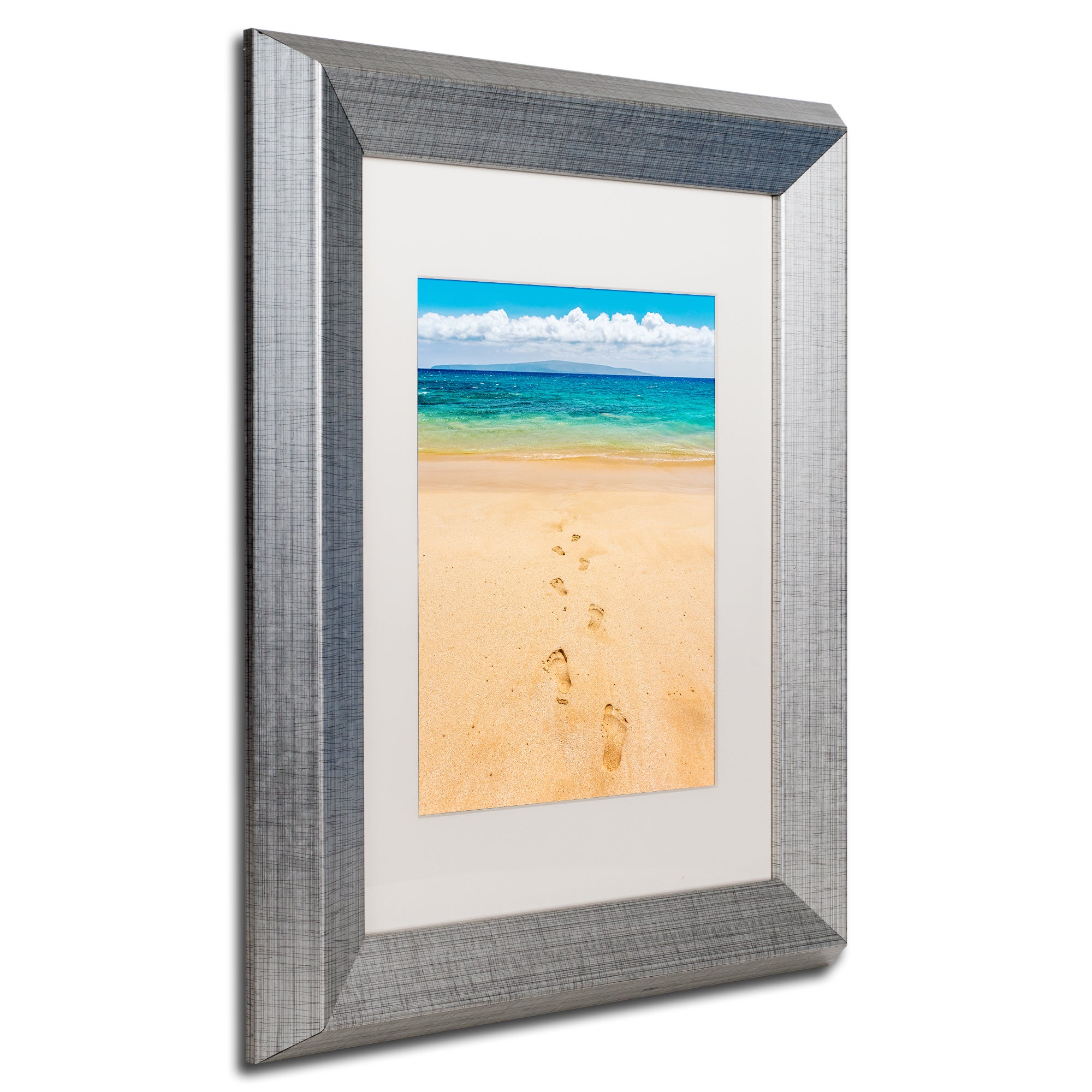 Pierre Leclerc \'Footprints in the Sand\' Matted Framed Art ...