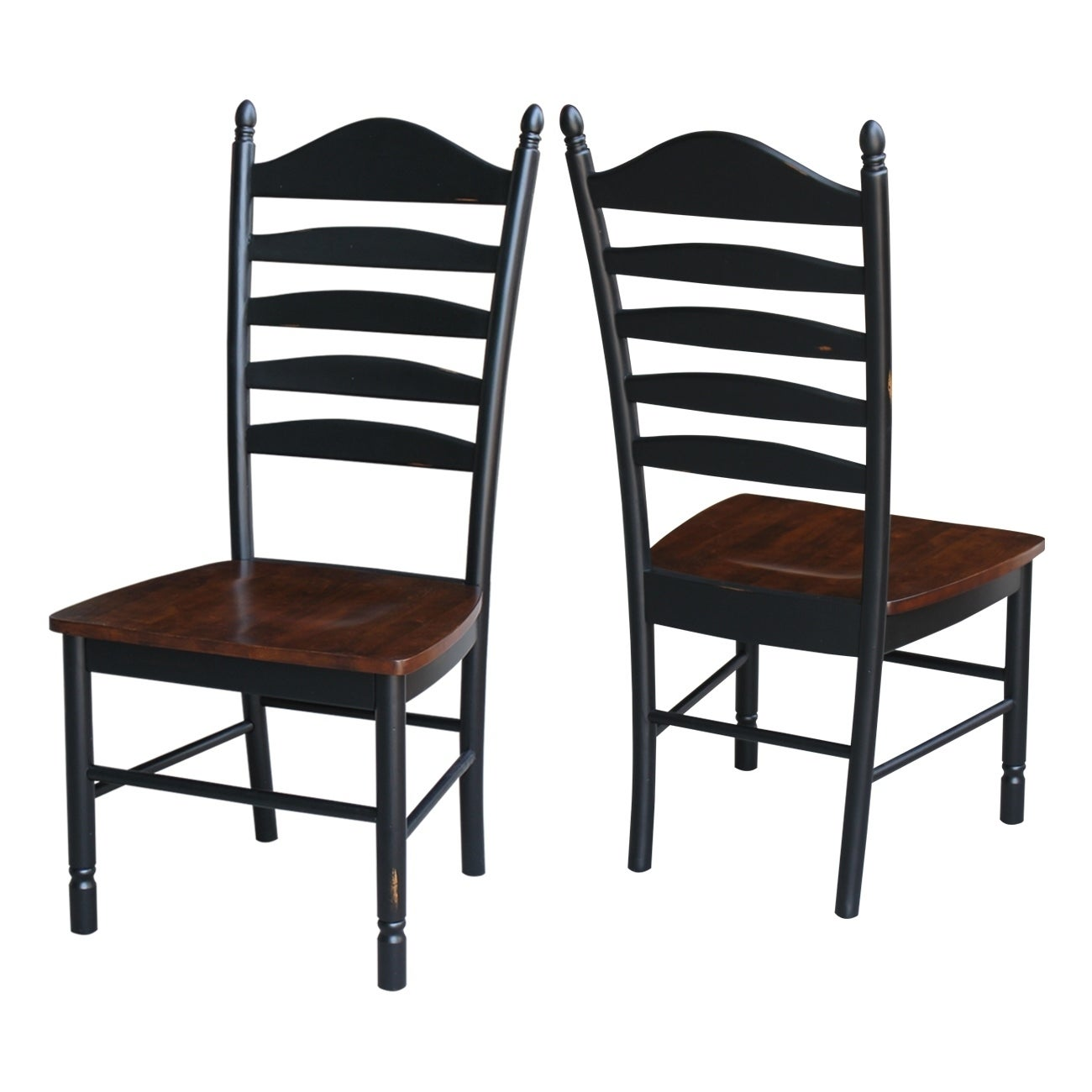 International Concepts Hand Rubbed Finish Wooden Tall Ladderback Chairs  (Set Of 2)   Free Shipping Today   Overstock.com   19718509