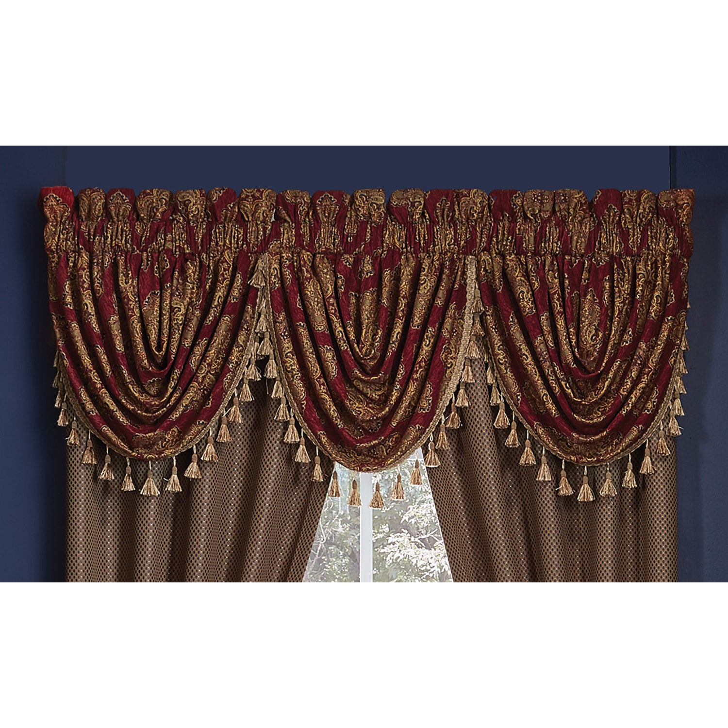hang sheer how p semi valance to valances waterfall ombre