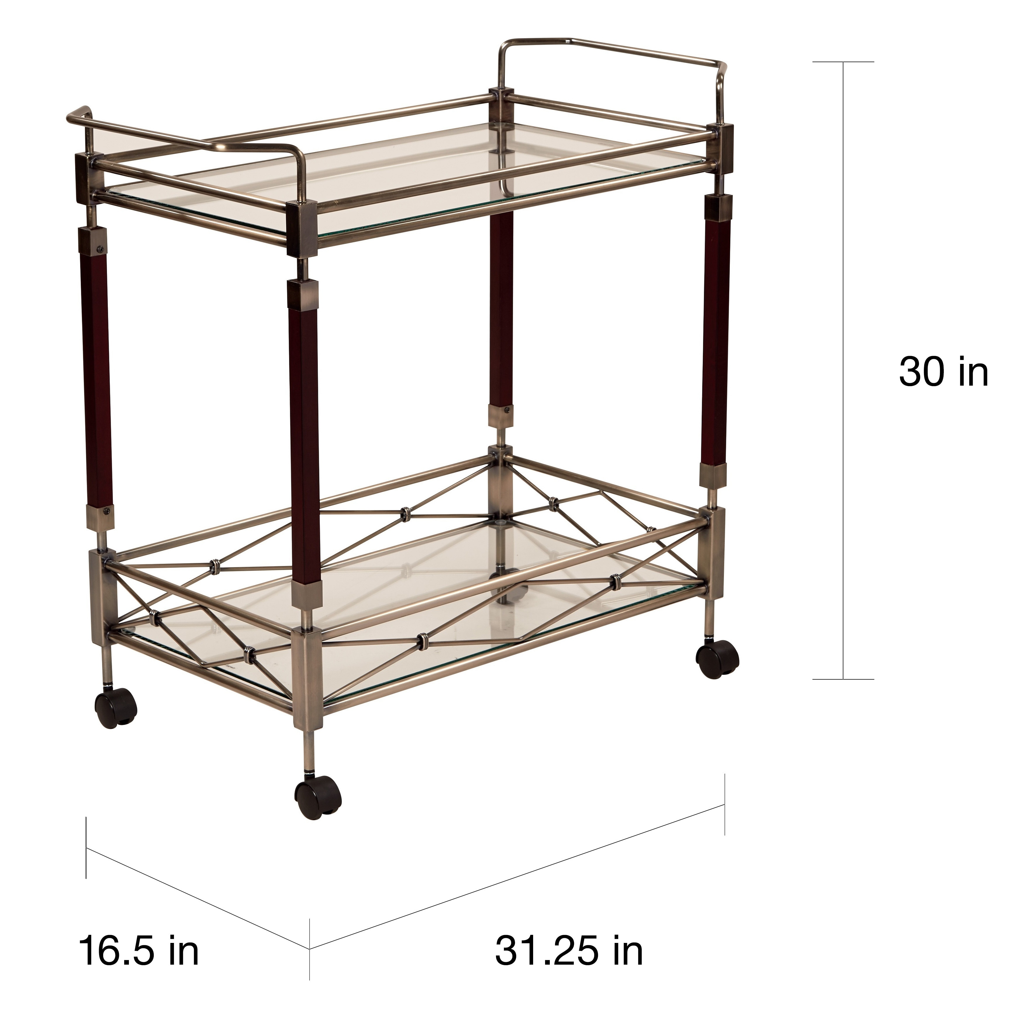 Shop Silver Orchid Rita Serving Cart - Free Shipping Today ...