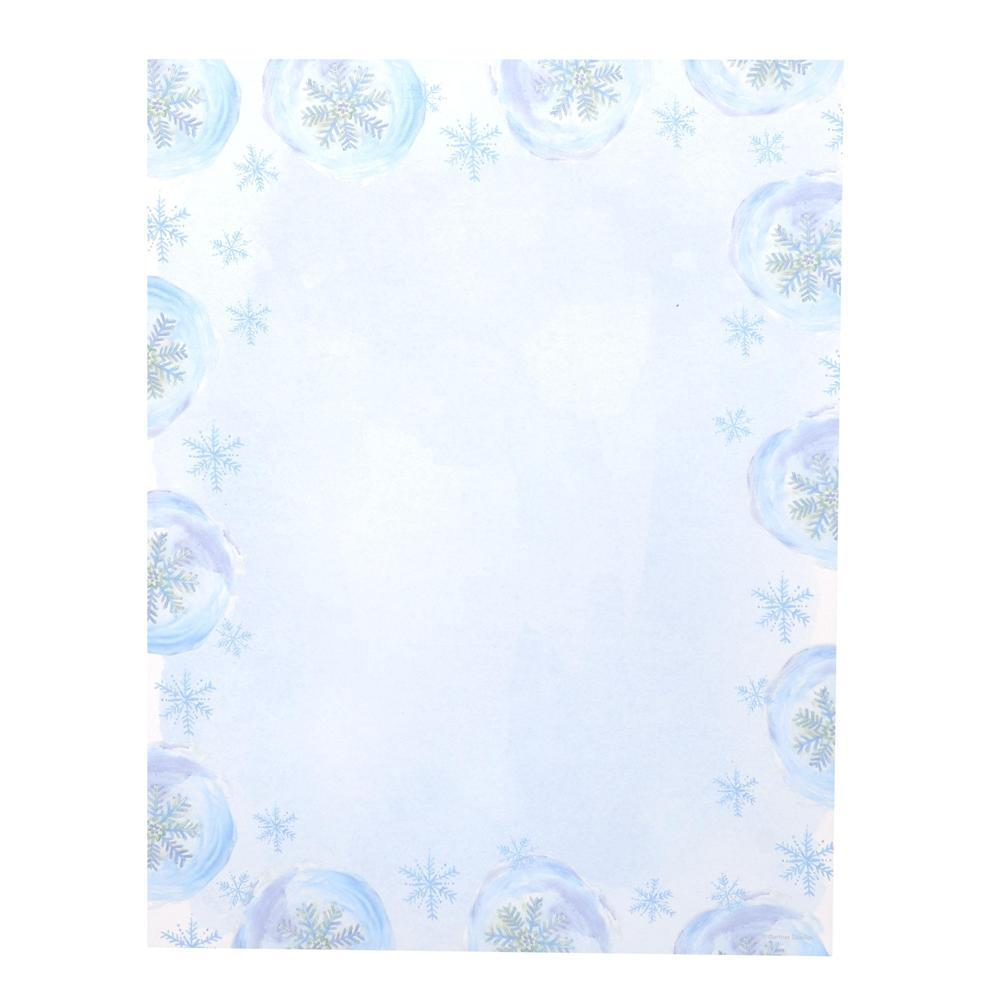 shop gartner studios blue snowflake blue and white paper holiday