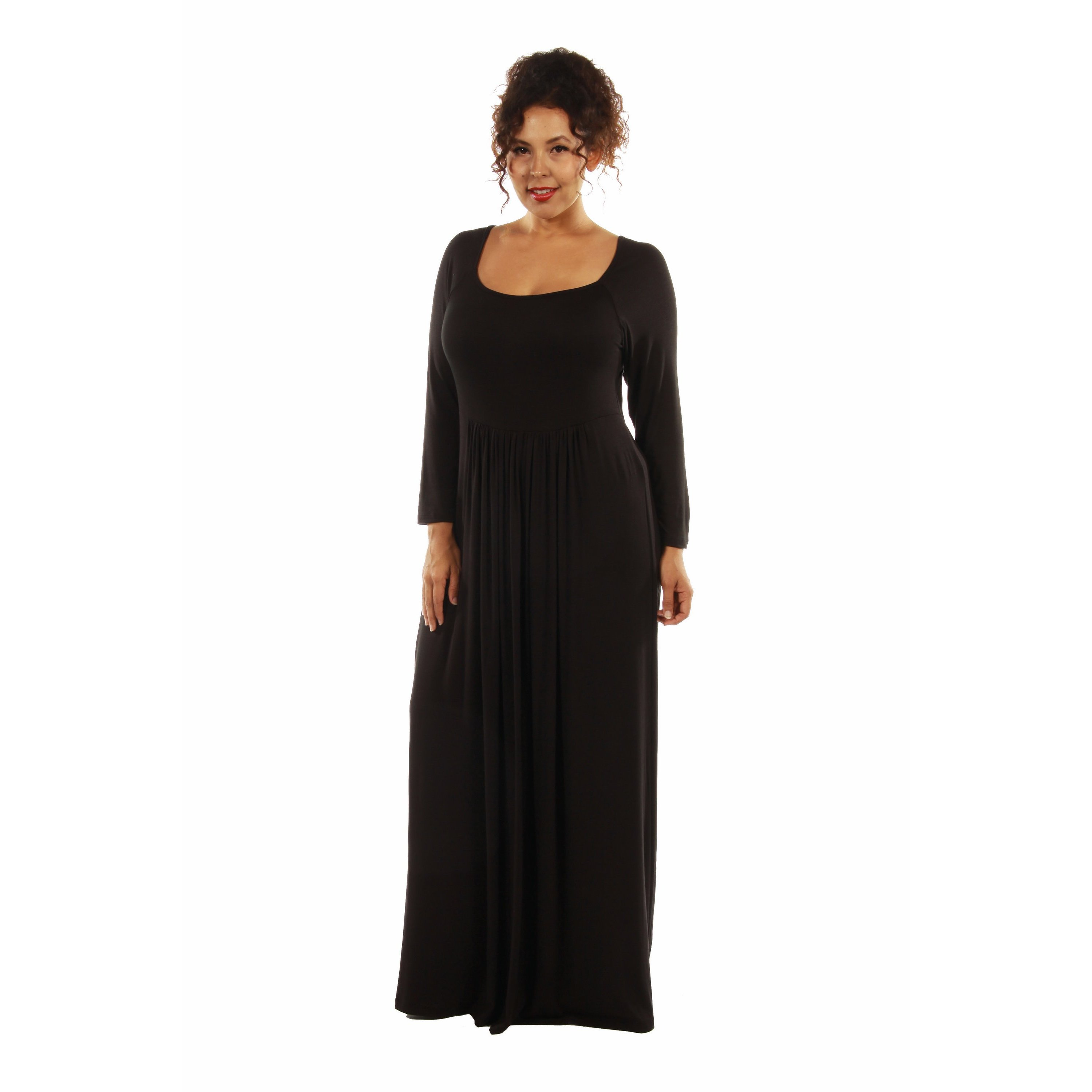 Shop 24/7 Comfort Plus Size Maxi Dress - On Sale - Free Shipping On ...