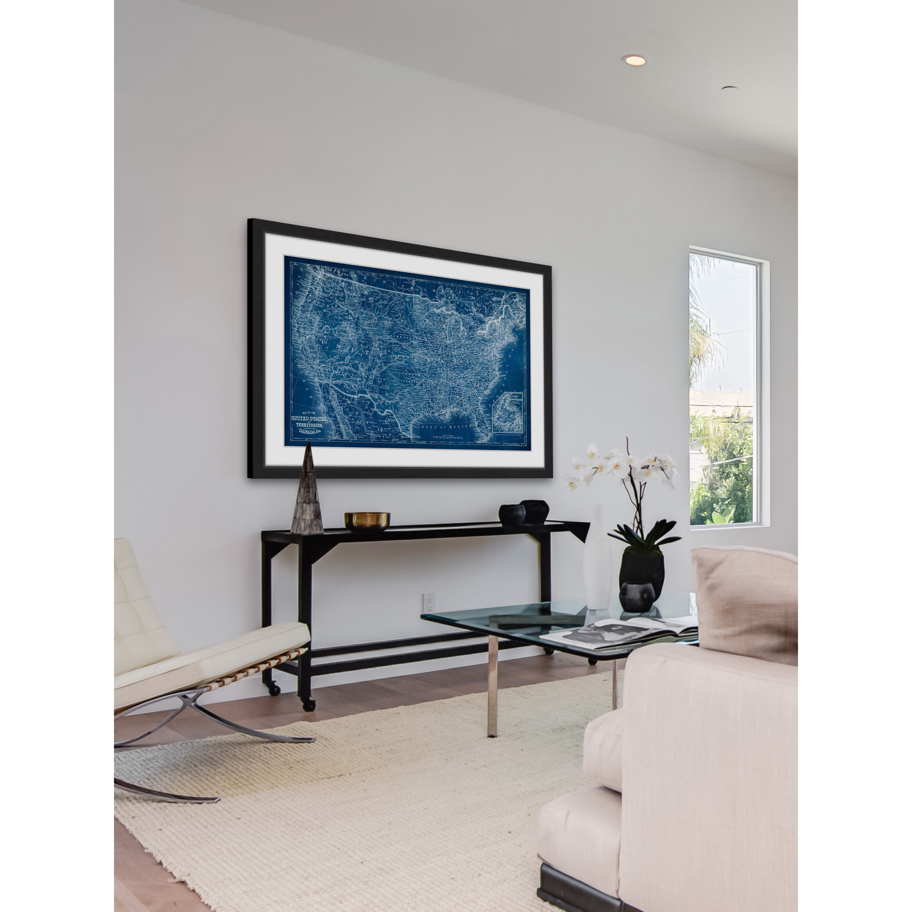 Shop marmont hill us map blueprint framed painting print on shop marmont hill us map blueprint framed painting print on sale free shipping today overstock 12982654 malvernweather Images