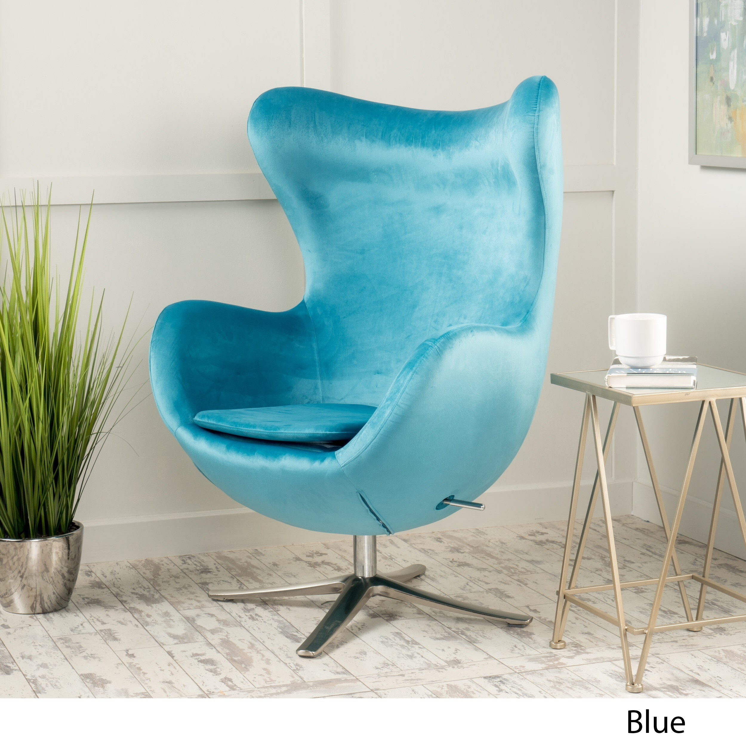 Superieur Shop Christopher Knight Home Gordon Velvet Mid Century Swivel Chair   On  Sale   Free Shipping Today   Overstock.com   12983598