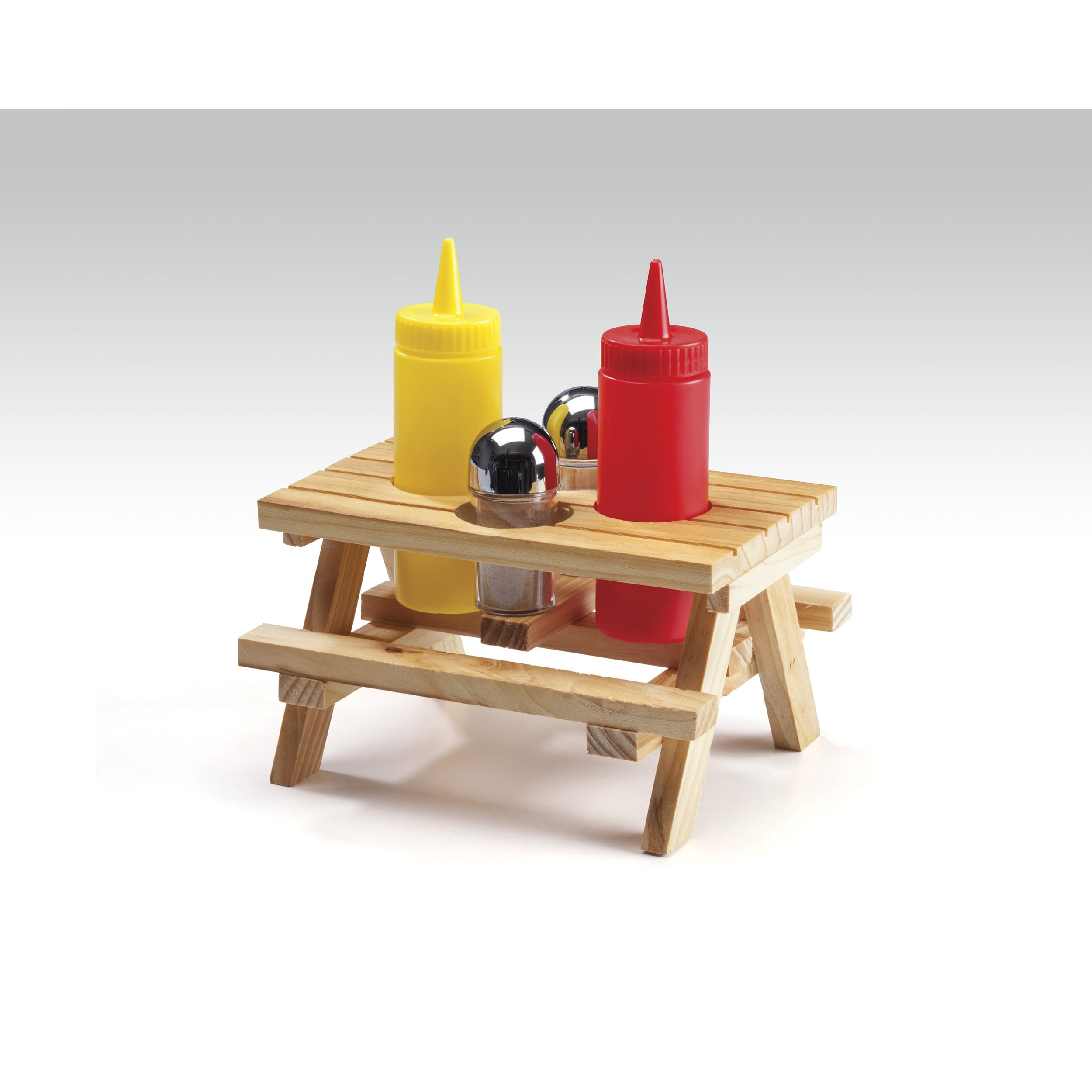 Wood Picnic Table Condiment Set - Free Shipping On Orders Over $45 - Overstock - 19730620  sc 1 st  Overstock.com & Wood Picnic Table Condiment Set - Free Shipping On Orders Over $45 ...
