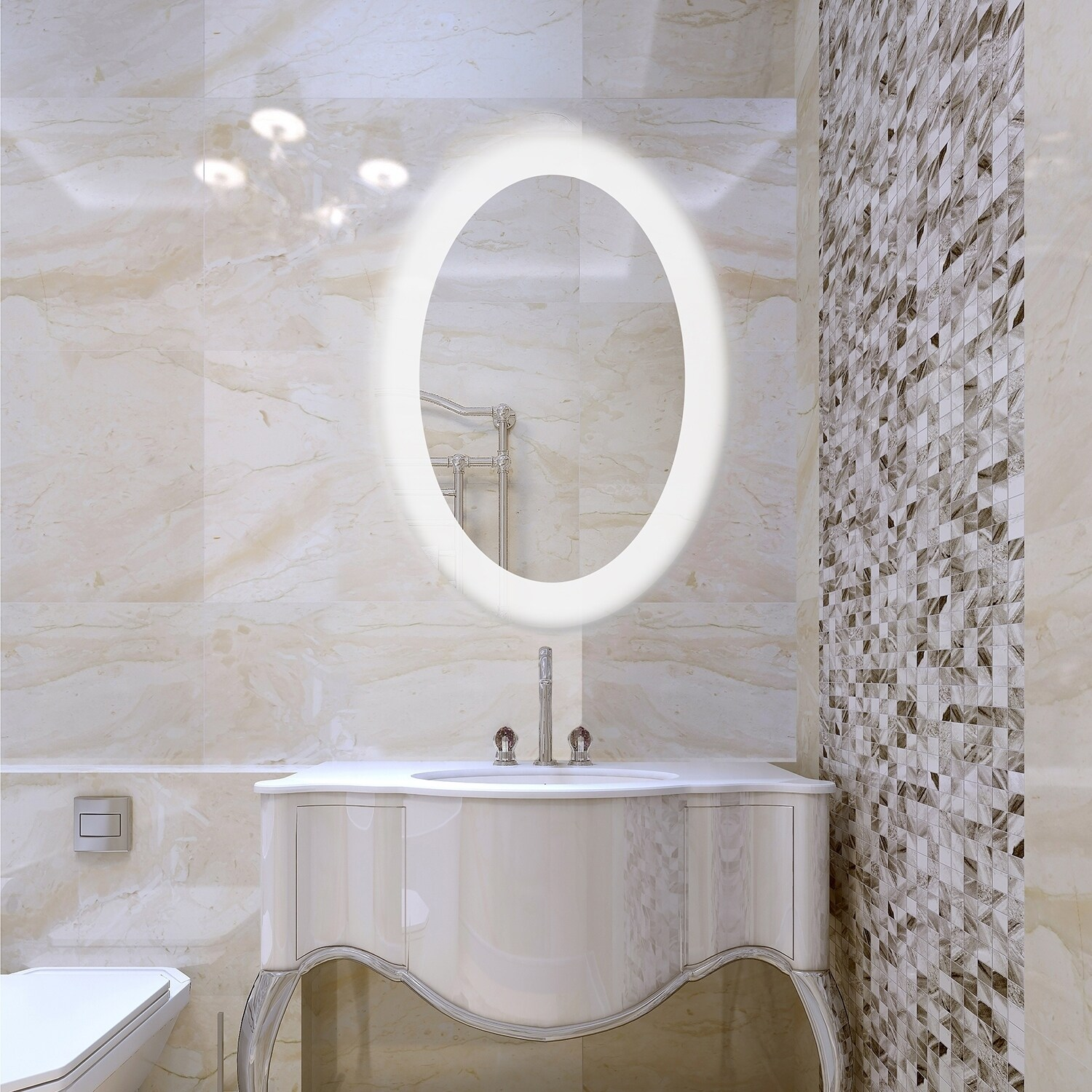 Dyconn Faucet Royal Wall-mounted Vanity Bathroom LED Backlit Mirror ...
