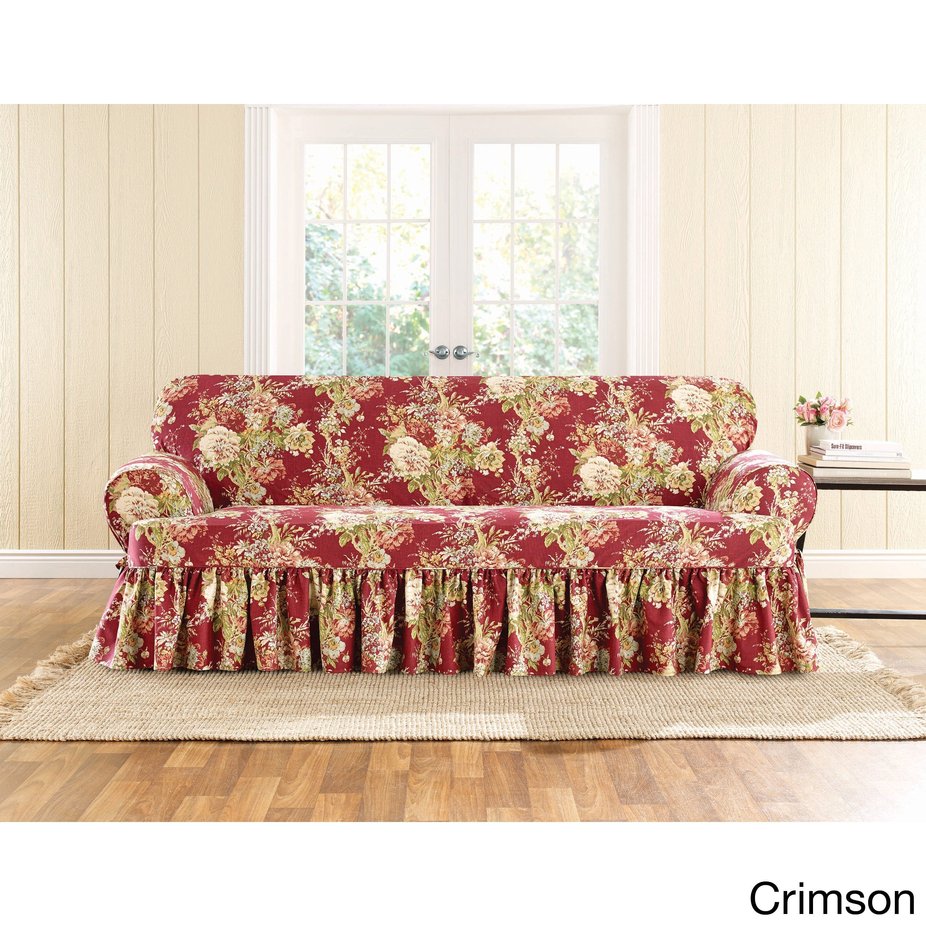 Sure Fit Ballad Bouquet 1 Piece T Cushion Sofa Slipcover On Free Shipping Today 12990628