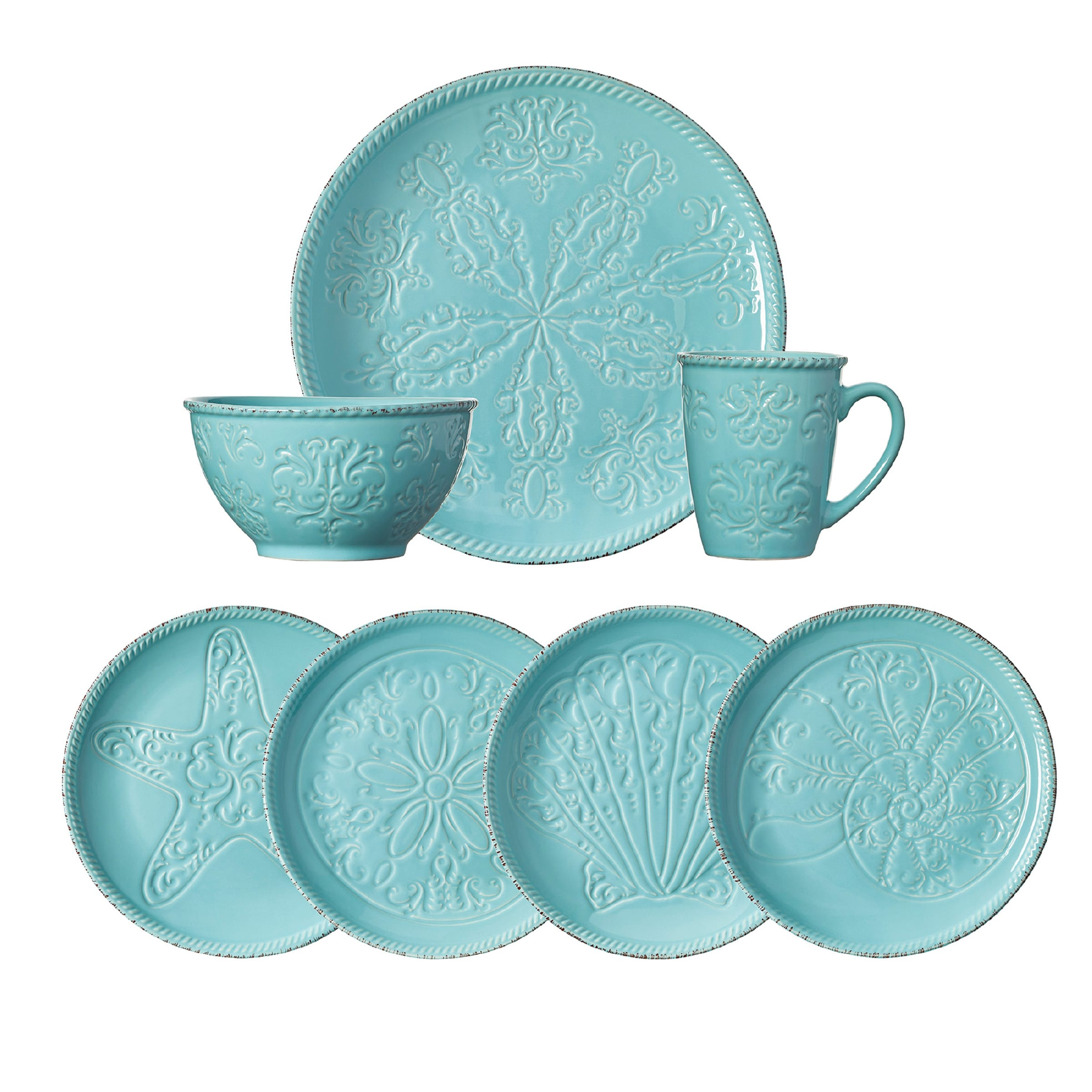Pfaltzgraff Everyday Malibu 16-piece Dinnerware Set (Service for 4) - Free Shipping Today - Overstock.com - 19737049  sc 1 st  Overstock.com : every day dinnerware - pezcame.com