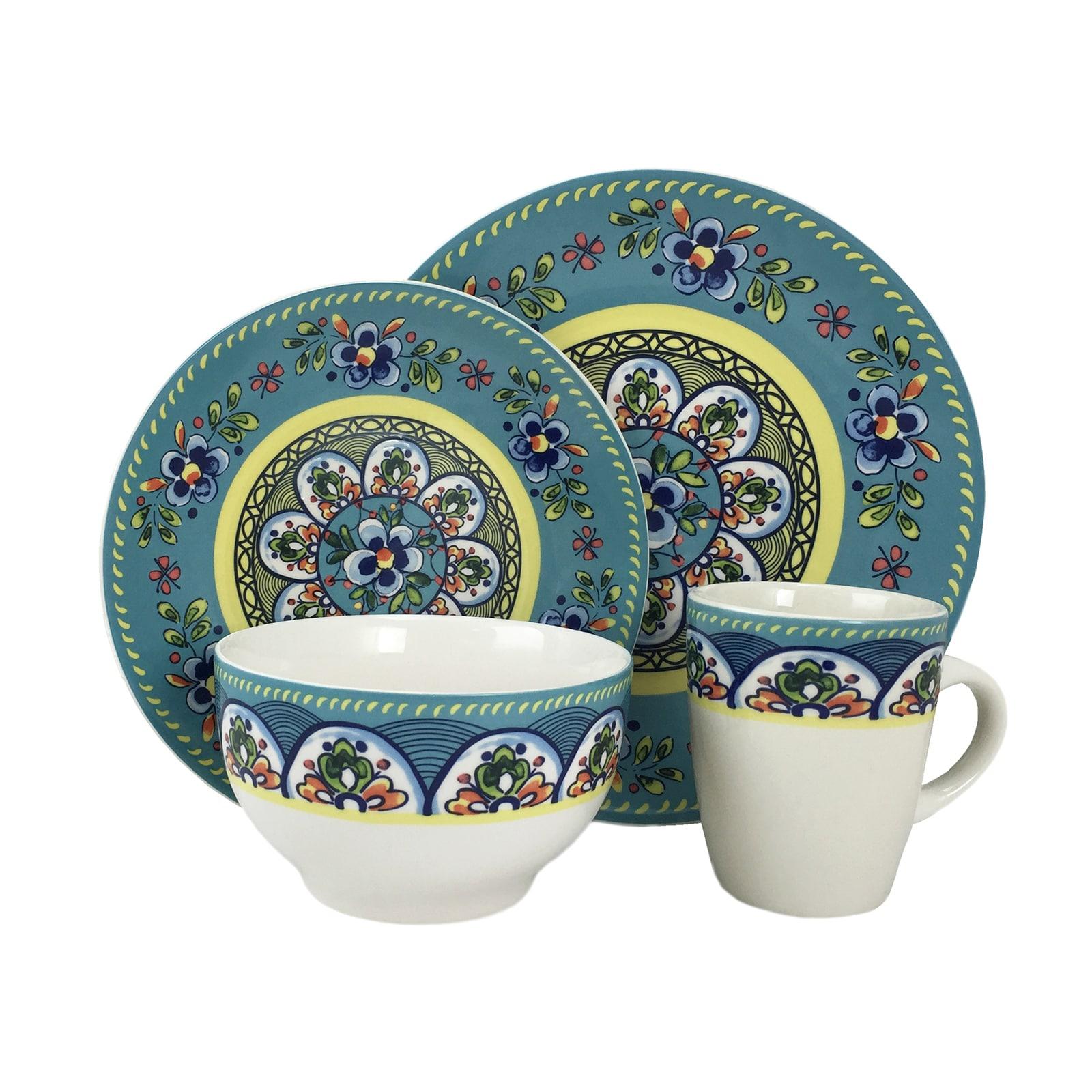 Elama Santa Fe Springs Multicolored Stoneware 16-piece Dinnerware Set - Free Shipping Today - Overstock - 19737094  sc 1 st  Overstock.com & Elama Santa Fe Springs Multicolored Stoneware 16-piece Dinnerware ...