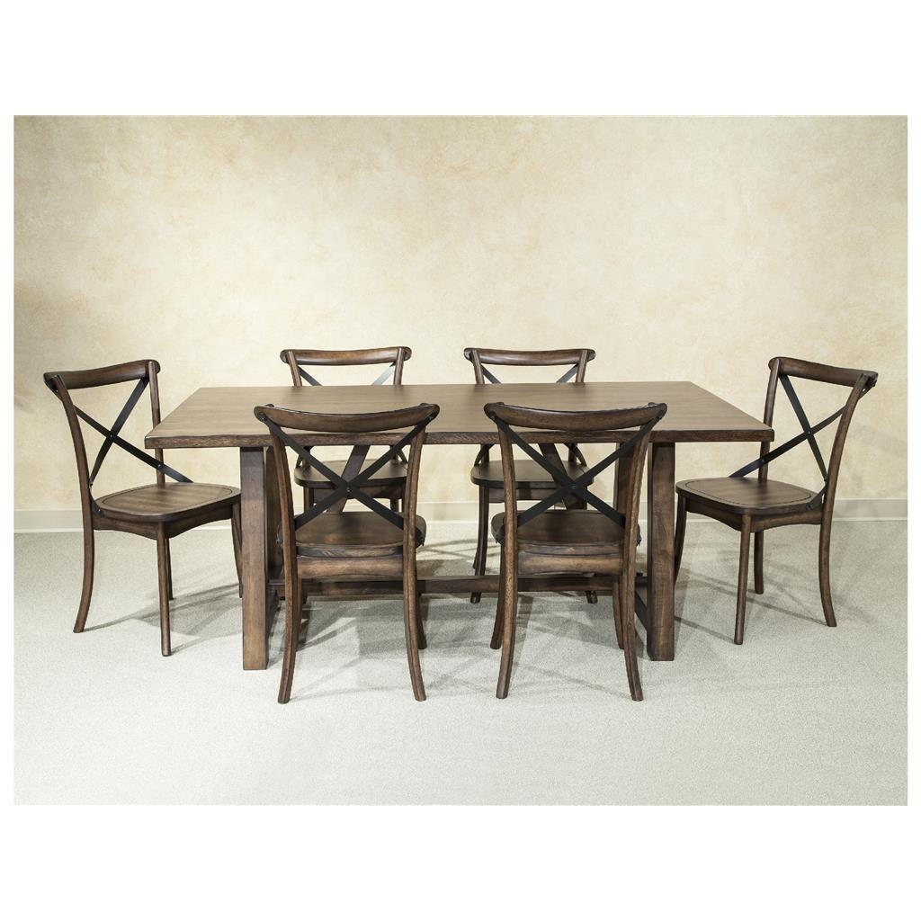 Lindsay Walnut 40x72 Trestle Dinette Table - Free Shipping Today ...