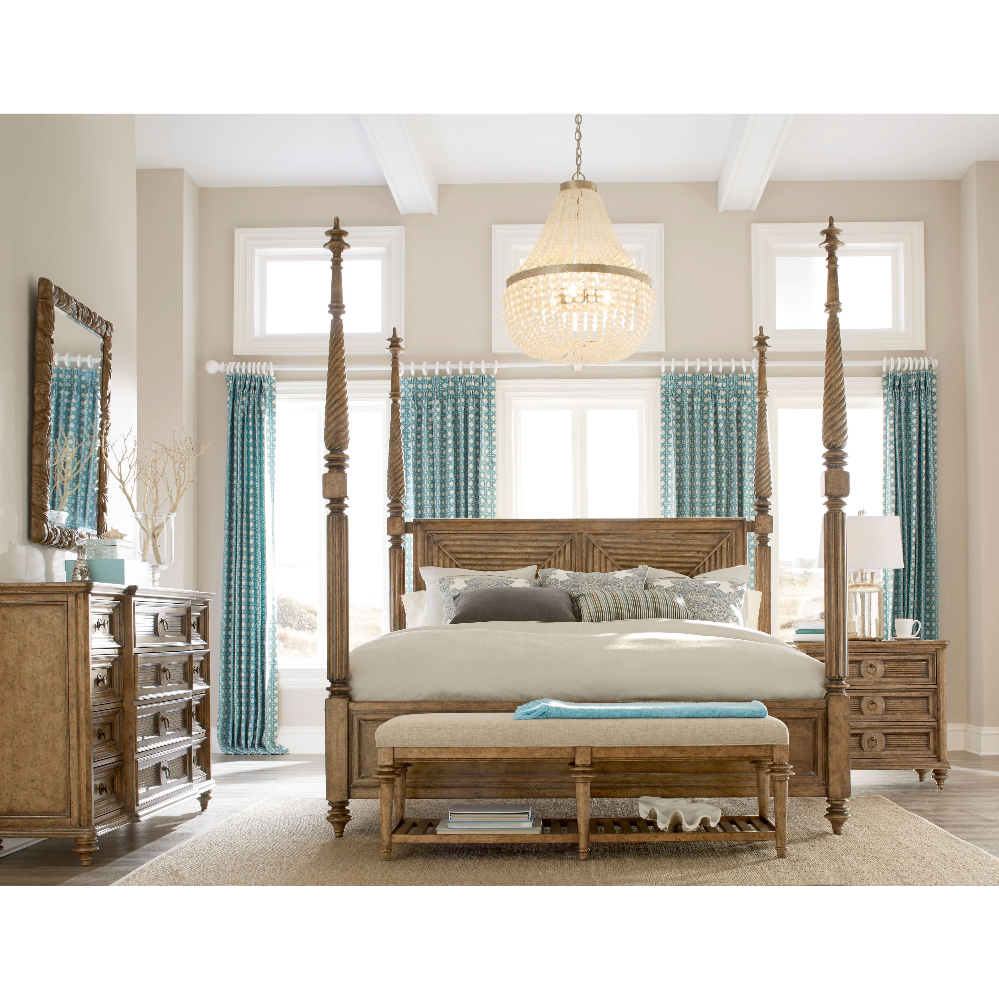 A R T Furniture Pavilion California King Poster Bed Canopy Free Shipping Today 12991153