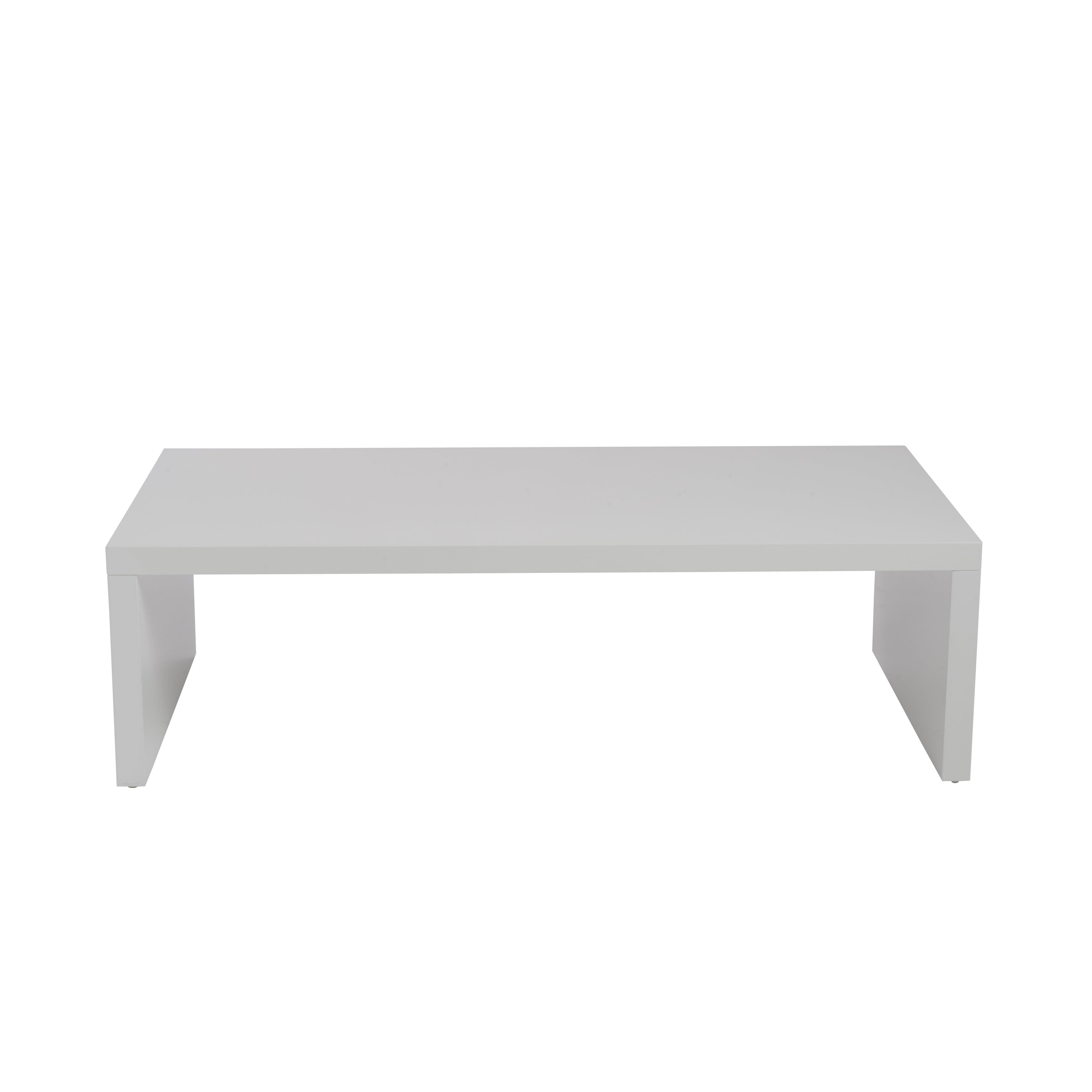 Shop Euro Style Abby High Gloss White Wood Rectangle Coffee Table   Free  Shipping Today   Overstock.com   12991462