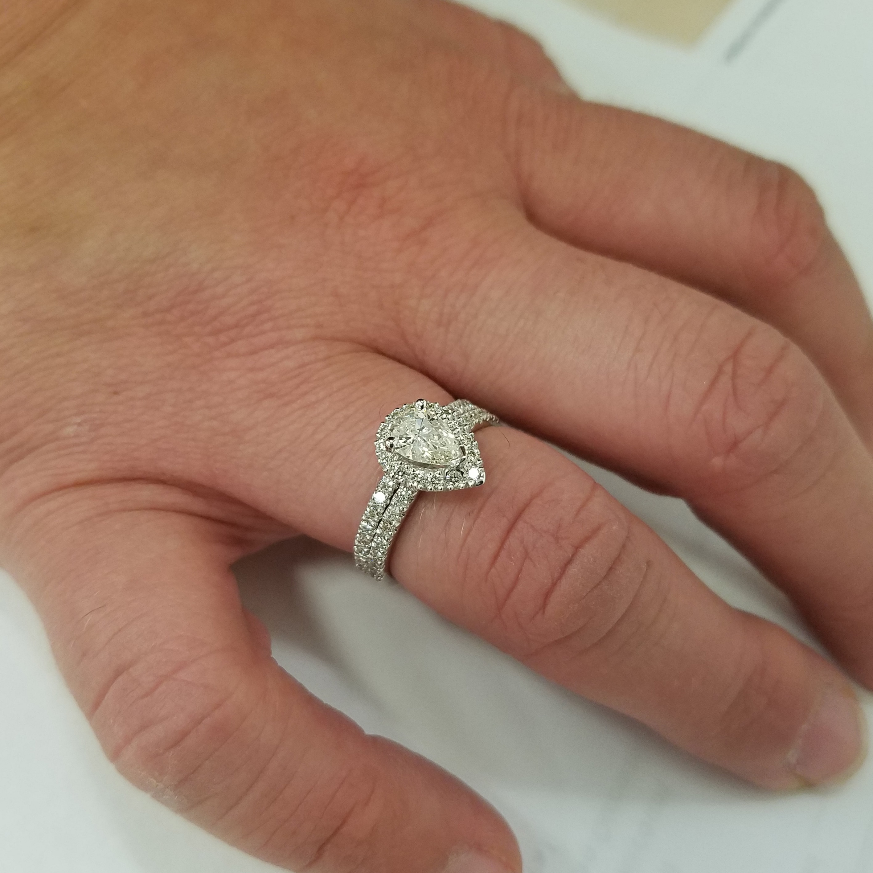 unique and rings band wedding my custom shaped with marquise pin matched ring v platinum ct baguette diamond halo a made side engagement