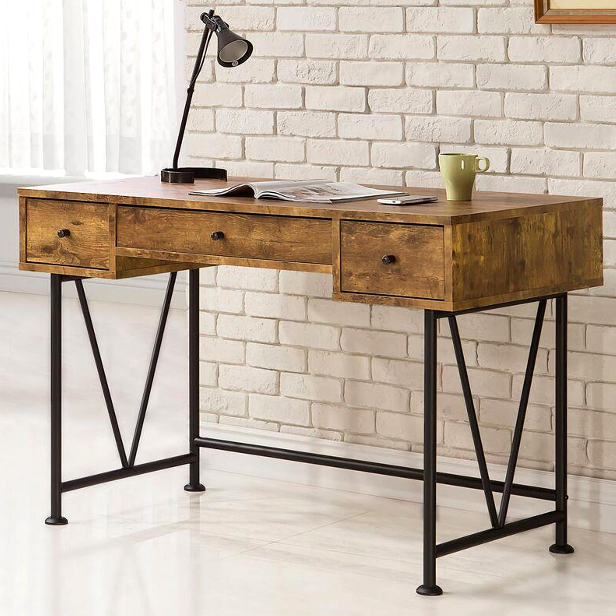 drawers with black distressed the drawer safavieh desks p desk abigail