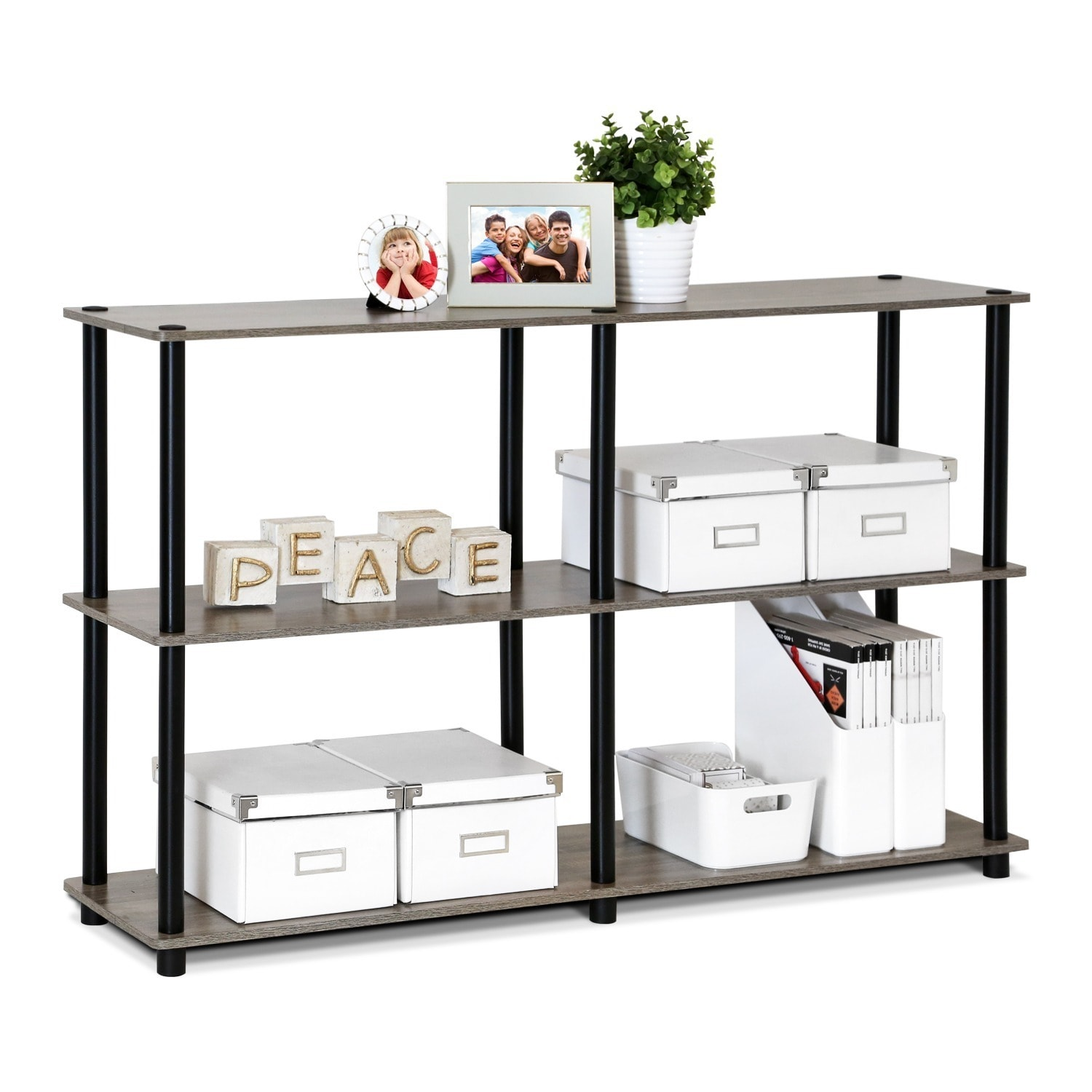 Shop Porch U0026 Den East Village St. Marks 3 Tier Double Size Storage Display  Rack   Free Shipping Today   Overstock.com   20340344